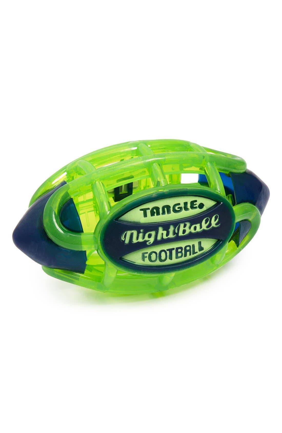 'NightBall' Large Football,                             Main thumbnail 1, color,                             Electric Green
