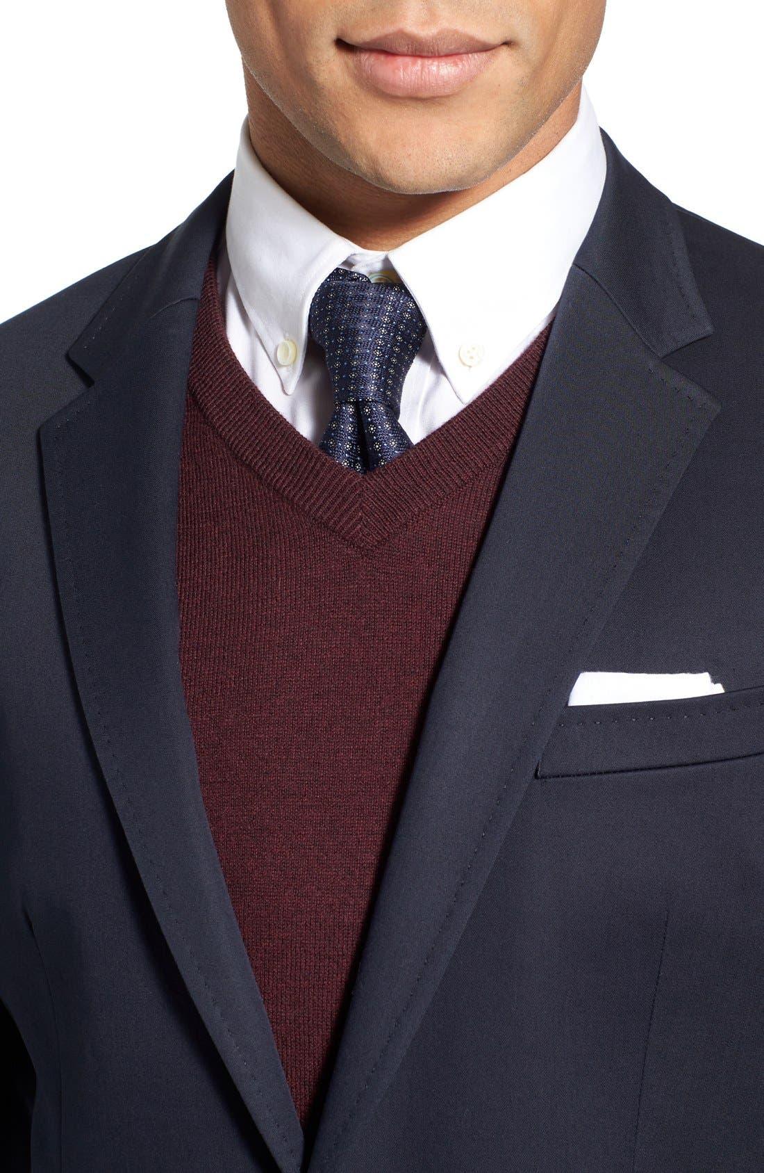 Alternate Image 4  - BOSS 'Hadwart' Trim Fit Cotton Blend Blazer
