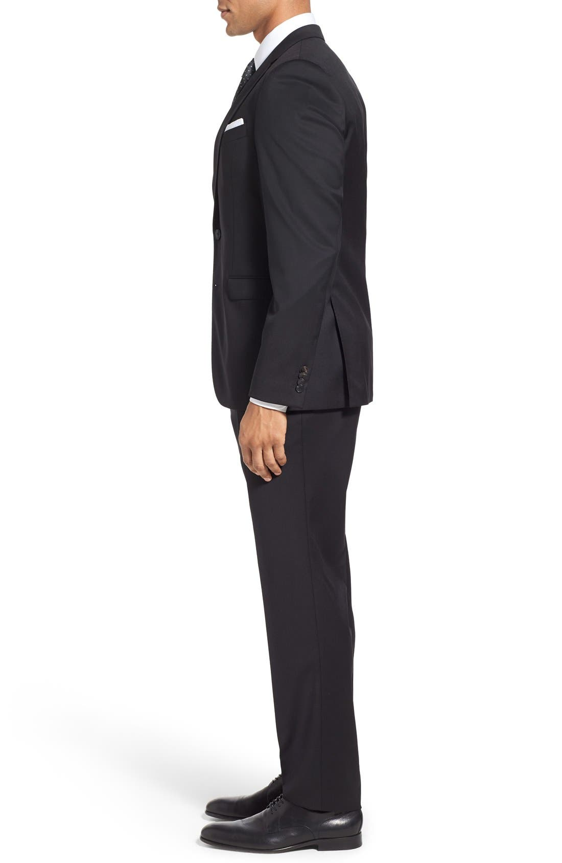 Alternate Image 3  - BOSS Ryan/Win Extra Trim Fit Solid Wool Suit