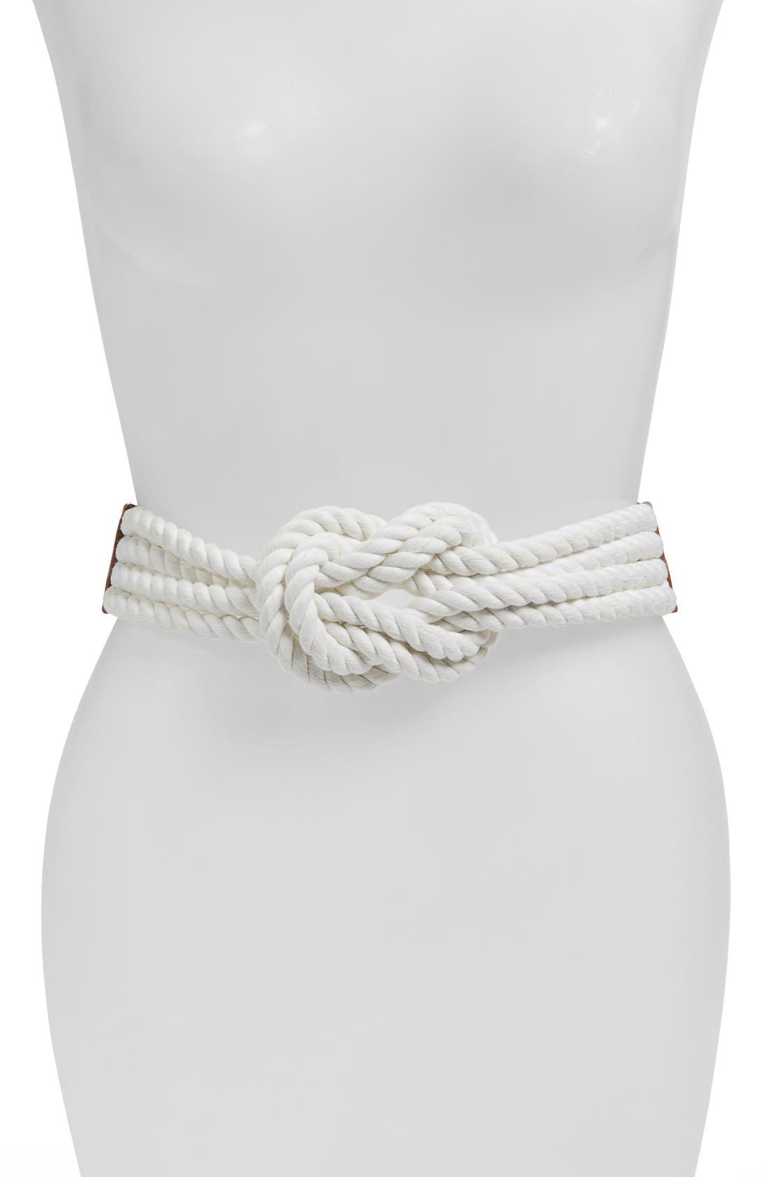 Raina 'Love Knot' Rope Belt