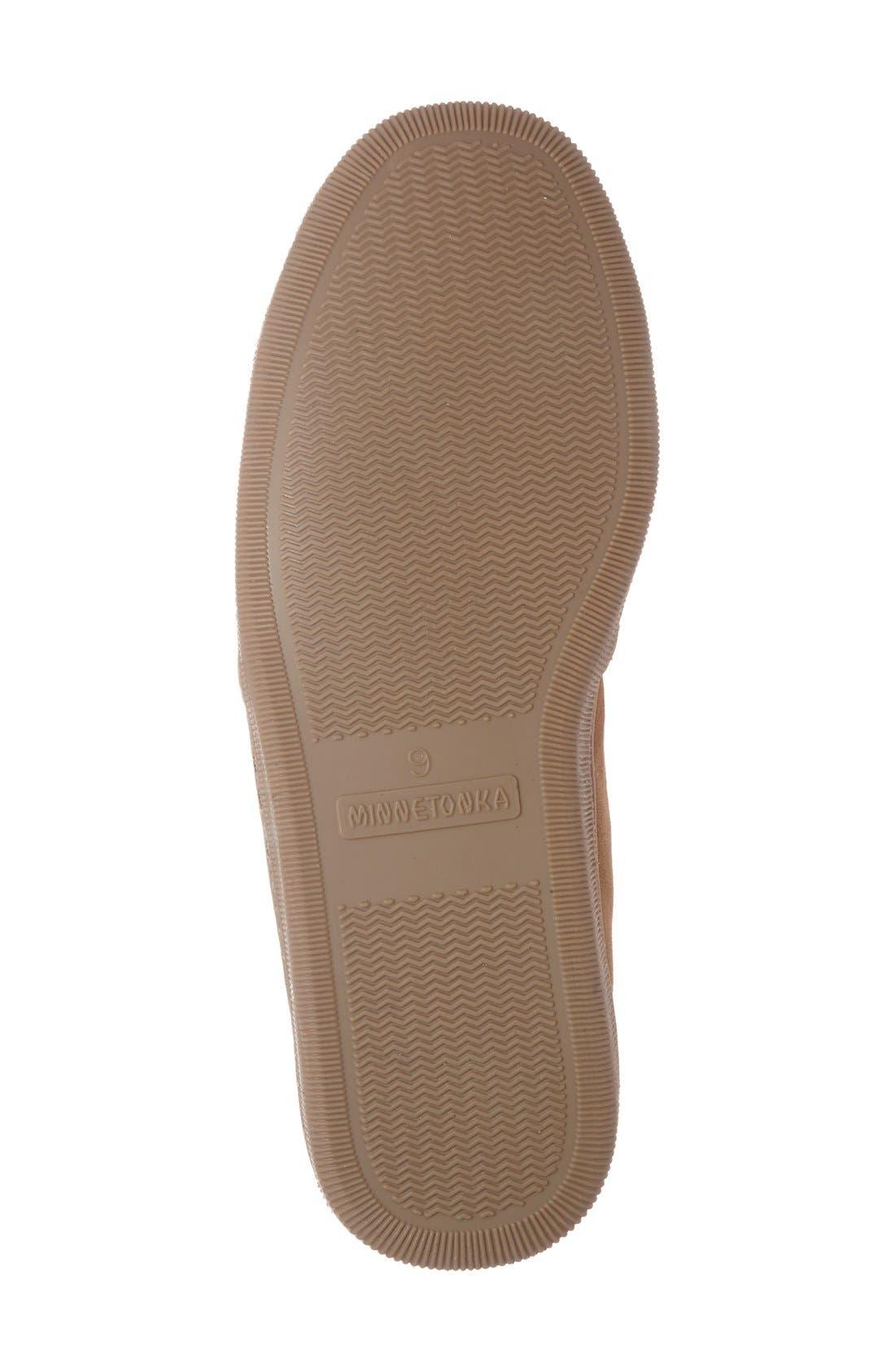 Alternate Image 4  - Minnetonka Genuine Shearling Lined Slipper (Men)