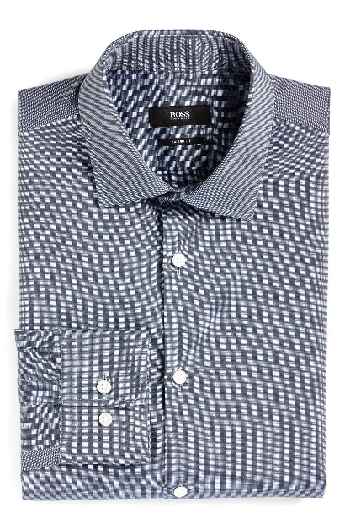 Alternate Image 1 Selected - BOSS Sharp Fit Solid Dress Shirt