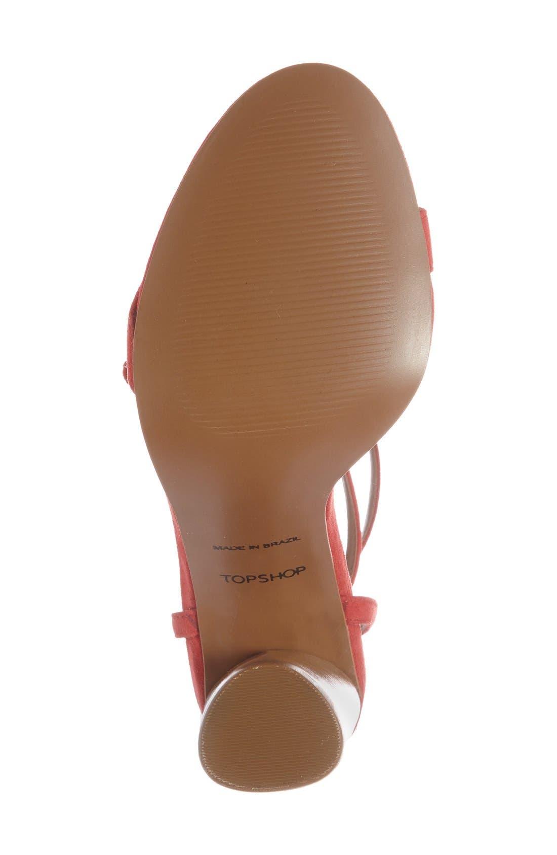 Alternate Image 4  - Topshop 'Ripple' Tasseled Round Heel Sandal (Women)
