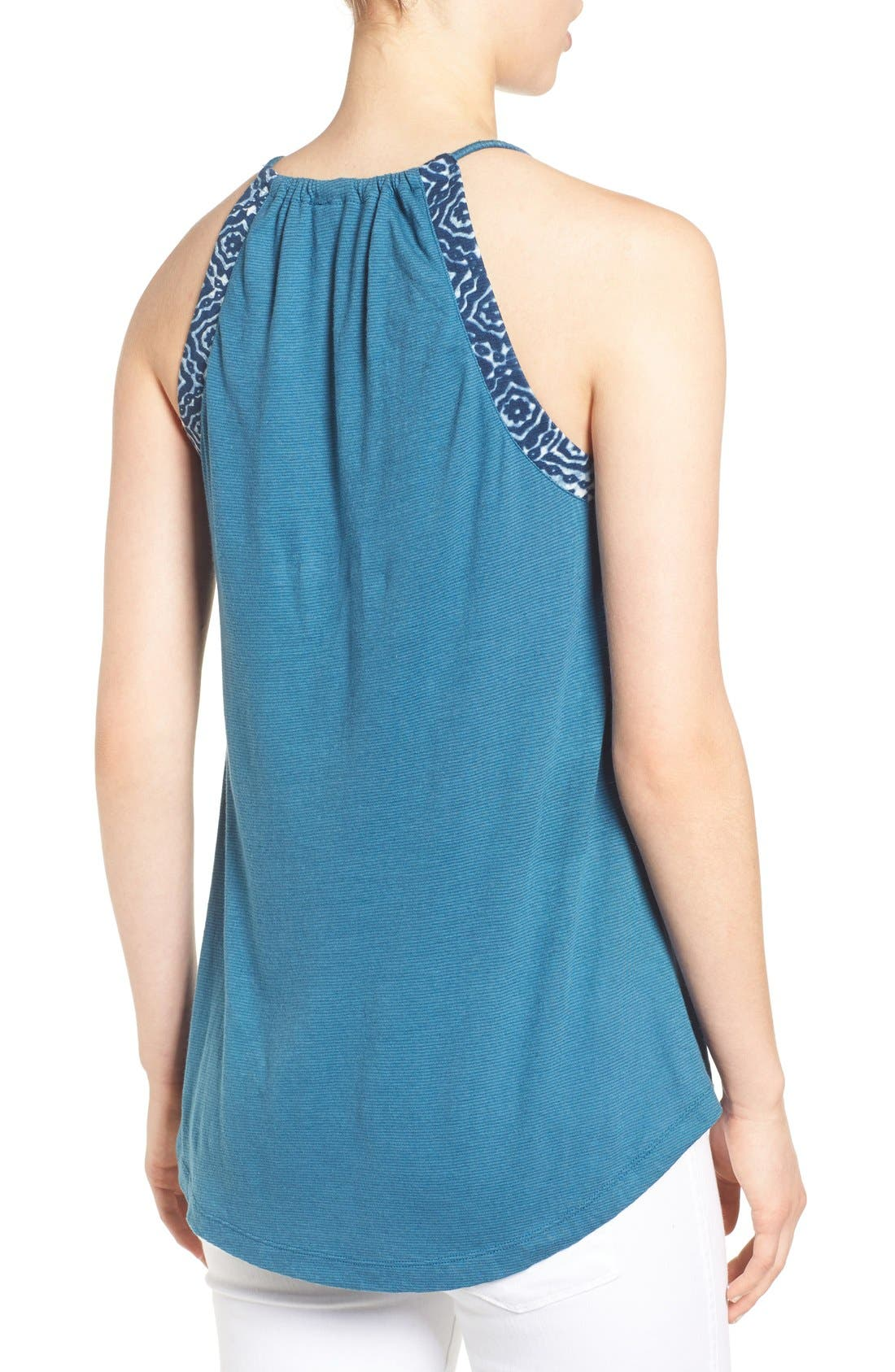 Alternate Image 2  - Lucky Brand Embroidered Keyhole Tank
