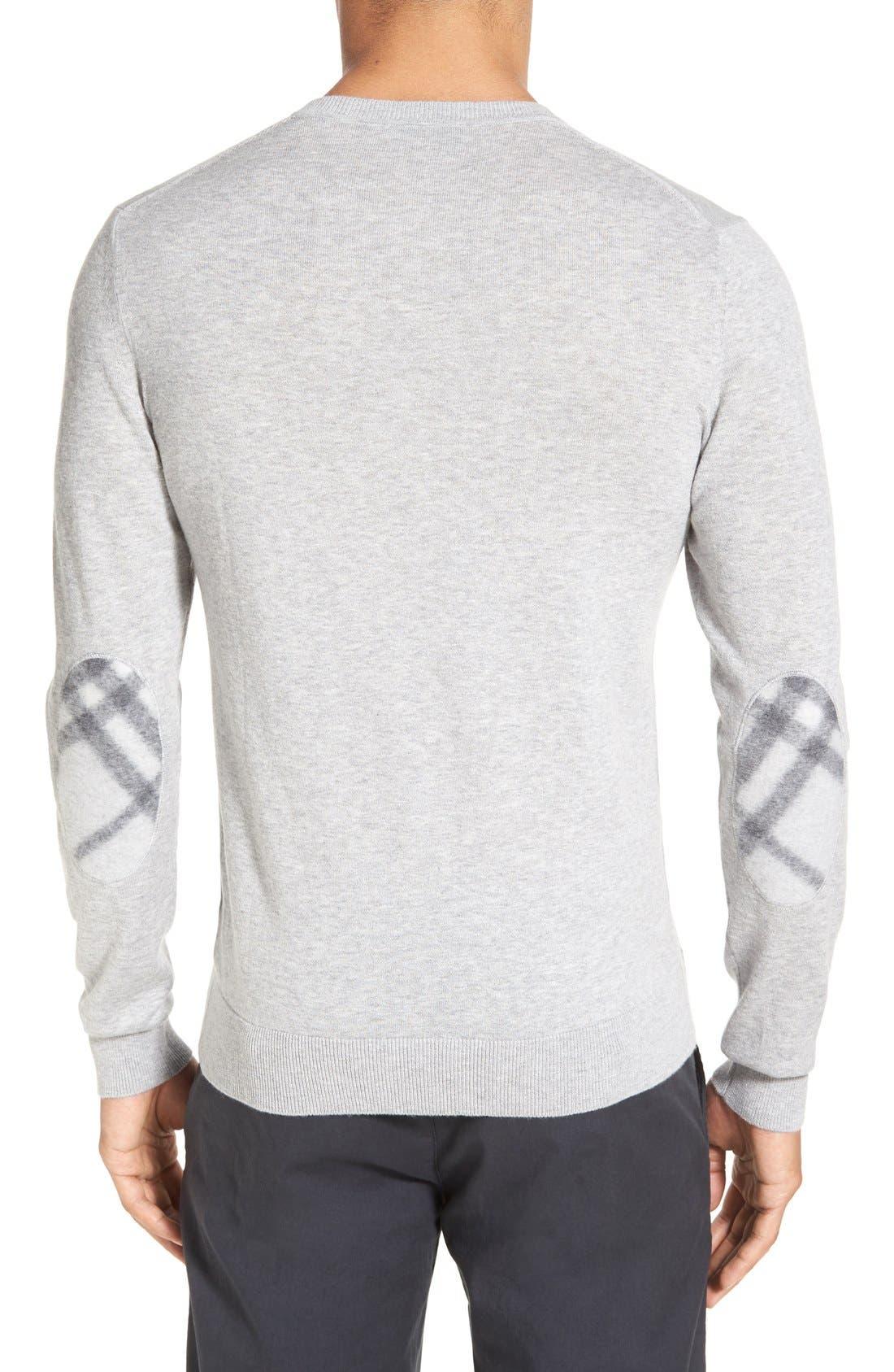 Brit Richmond Cotton & Cashmere Sweater,                             Alternate thumbnail 2, color,                             Pale Grey Melange