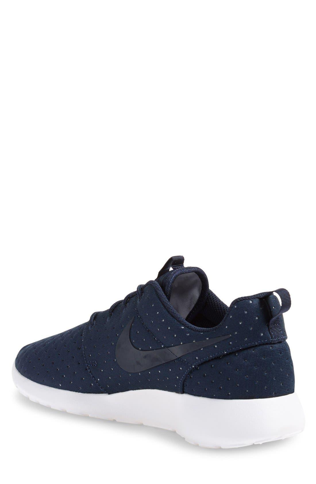 'Roshe One SE' Sneaker,                             Alternate thumbnail 3, color,                             Obsidian/ Obsidian/ Grey