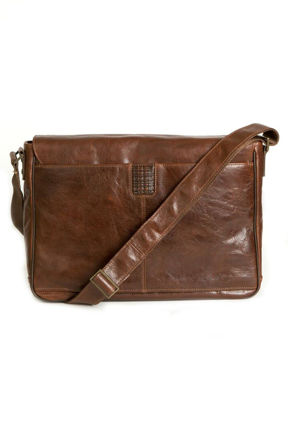 'Becker' Leather Messenger Bag,                             Alternate thumbnail 2, color,                             Whiskey
