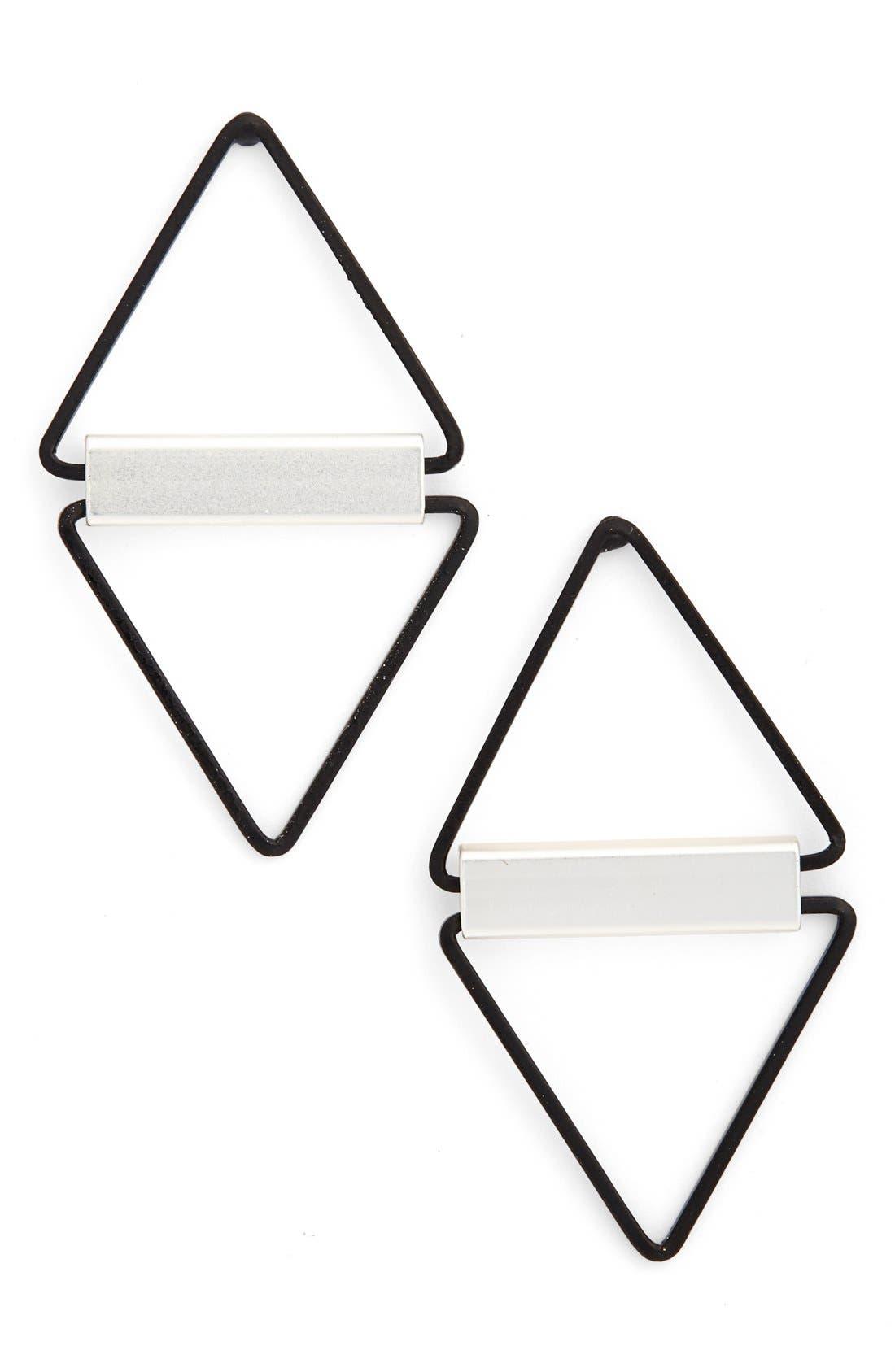 Main Image - Cara Open Triangle Earrings