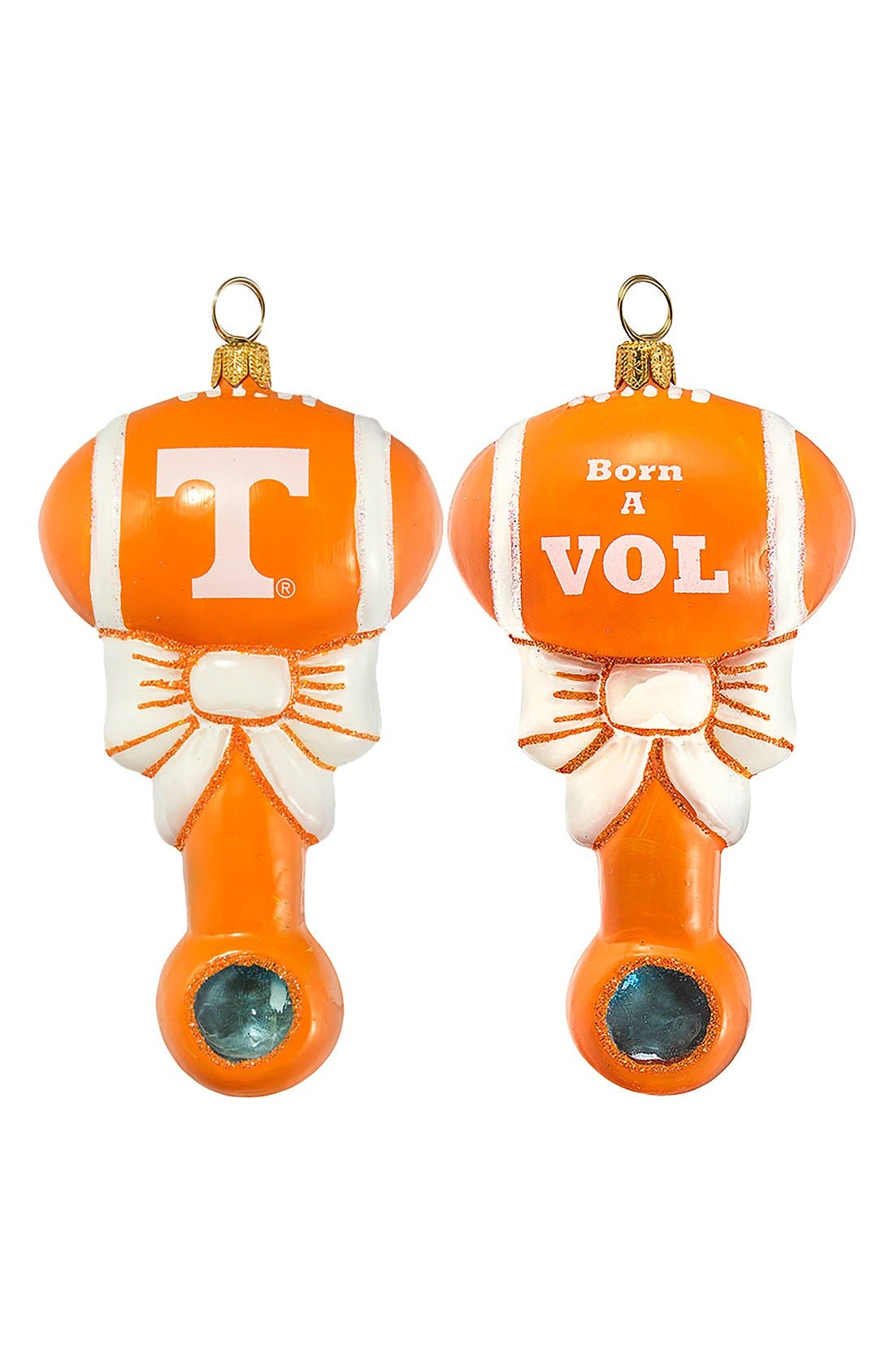 'Collegiate Baby Rattle' Ornament,                             Main thumbnail 1, color,                             Texas