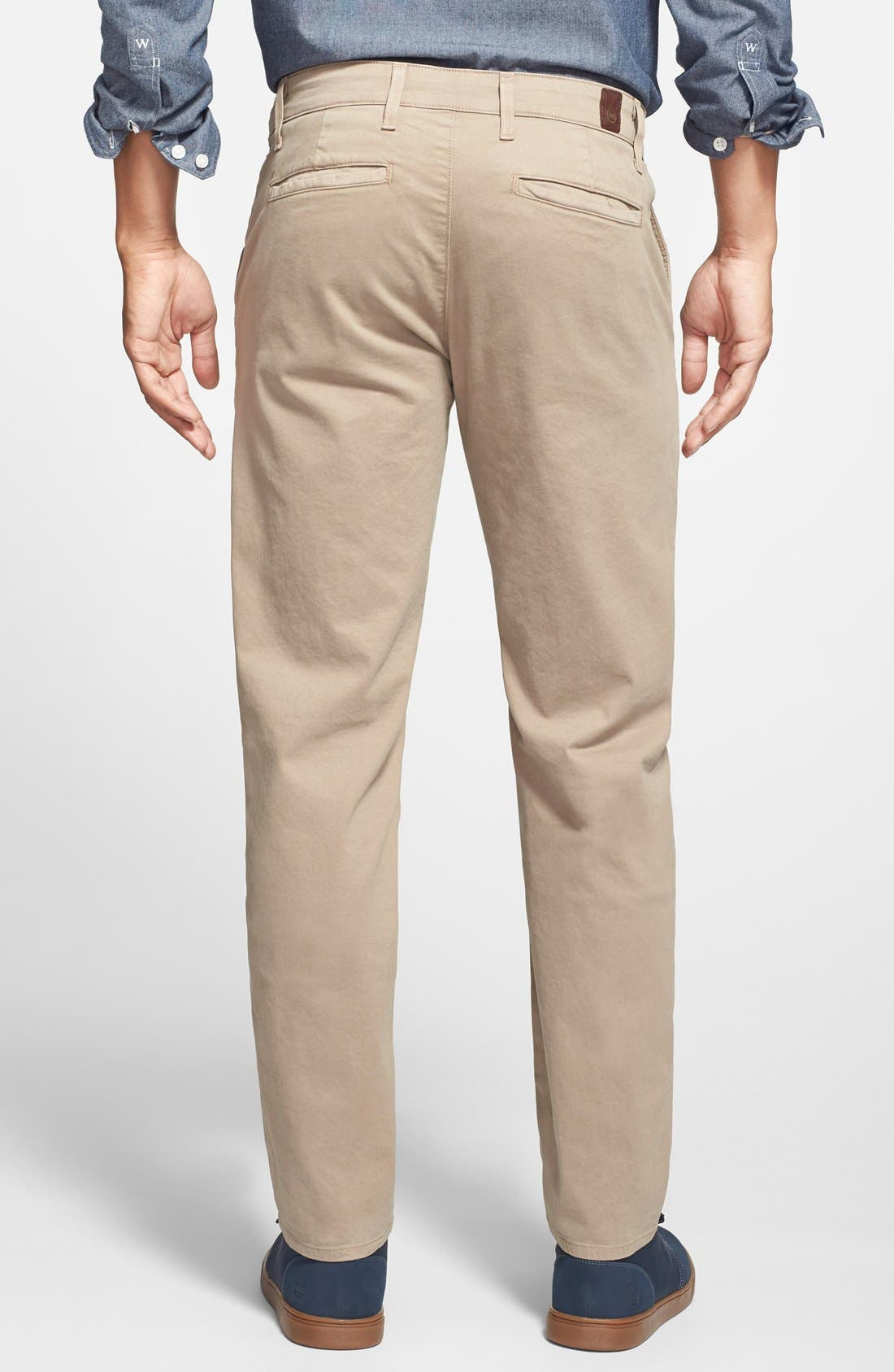 'The Lux' Tailored Straight Leg Chinos,                             Alternate thumbnail 4, color,                             Wheat