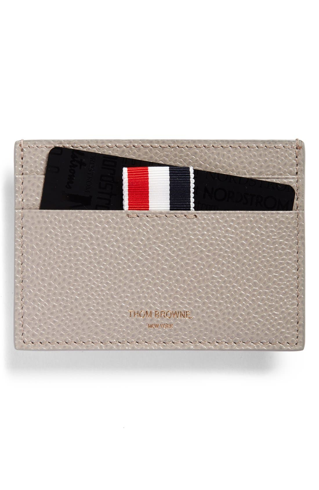 THOM BROWNE Pebbled Leather Card Case