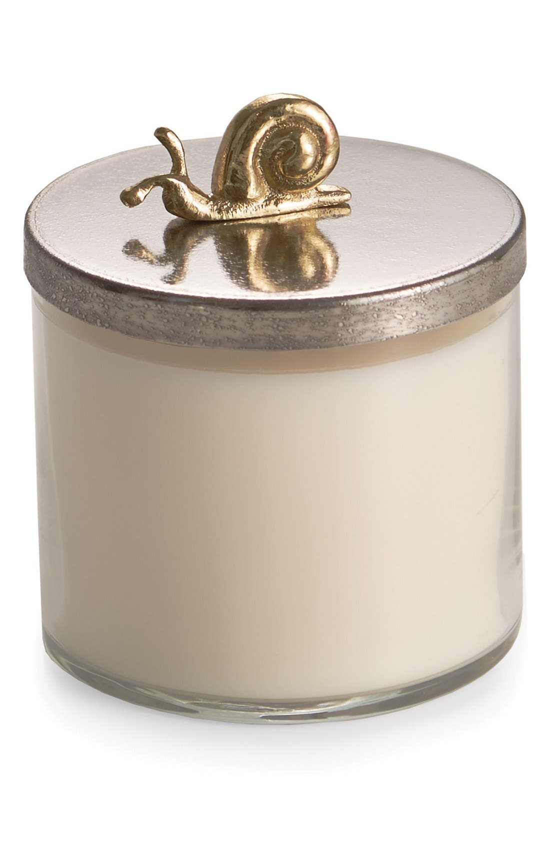 'Enchanted Garden' Soy Wax Candle,                         Main,                         color, Stainless Steel