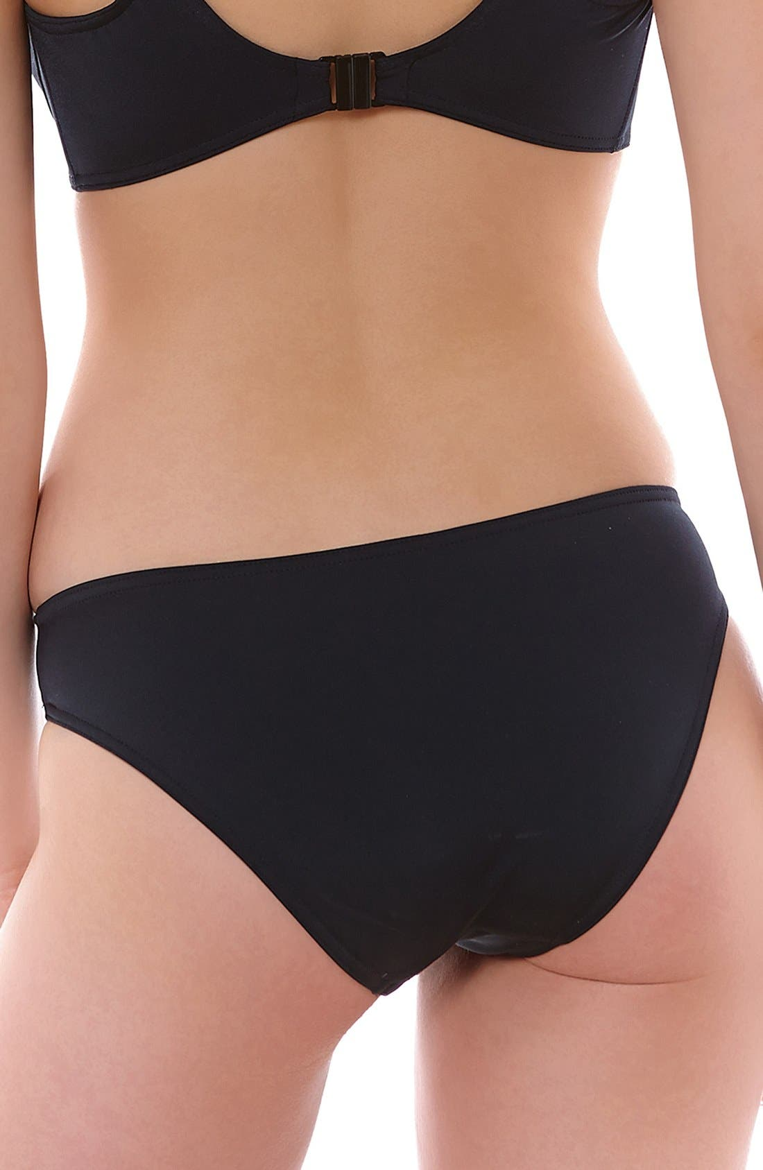 'Remix' Bikini Bottoms,                             Alternate thumbnail 2, color,                             Black