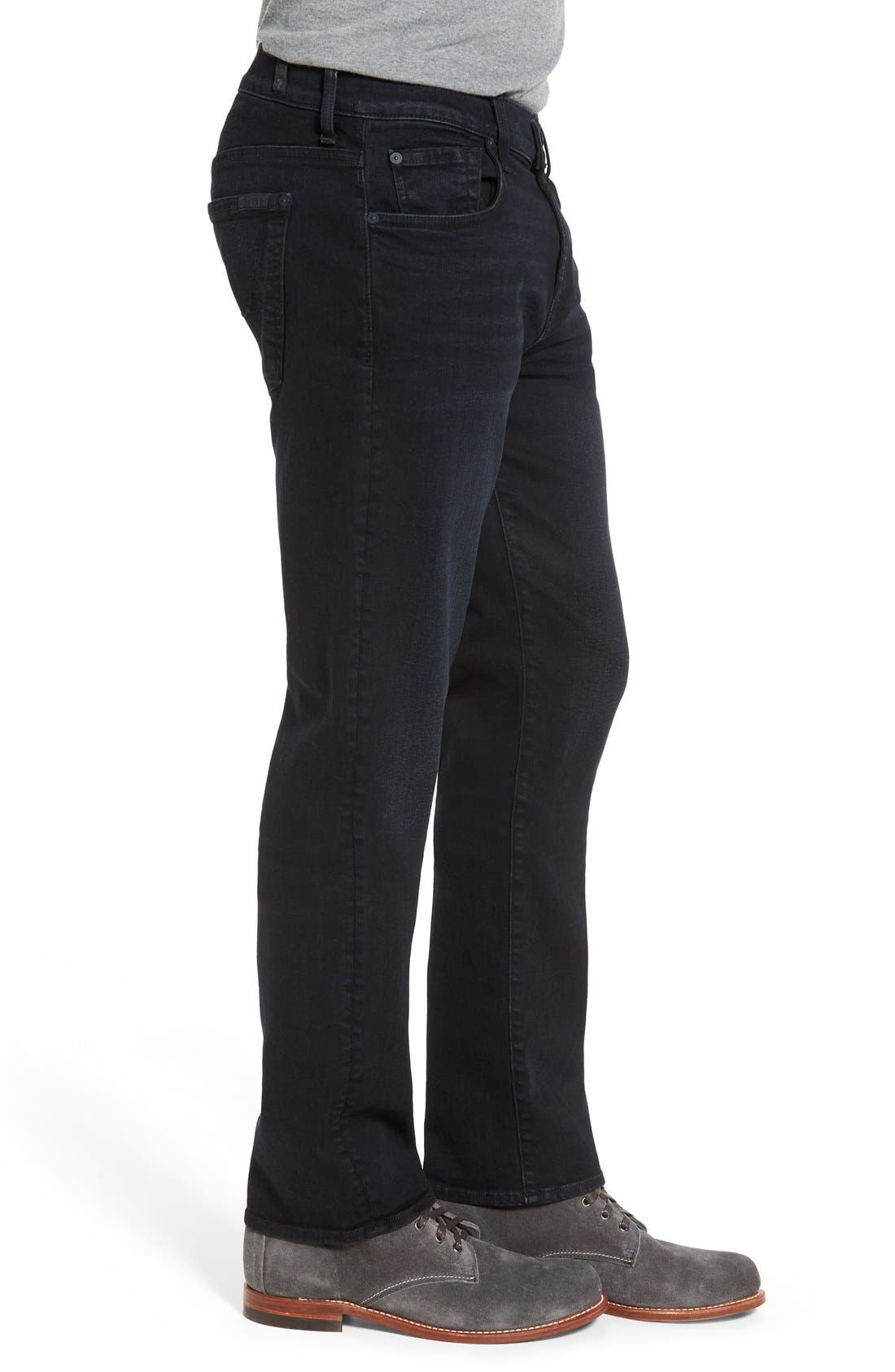 Alternate Image 3  - 7 For All Mankind® 'Standard - Luxe Performance' Straight Leg Jeans (Stockholme)