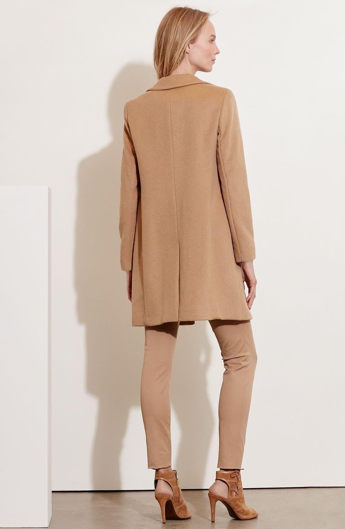 Alternate Image 2  - Lauren Ralph Lauren Wool Blend Reefer Coat (Regular & Petite)