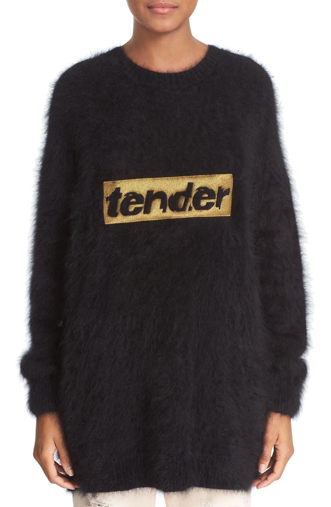 Main Image - Alexander Wang 'Tender' Embroidered Wool Blend Sweater