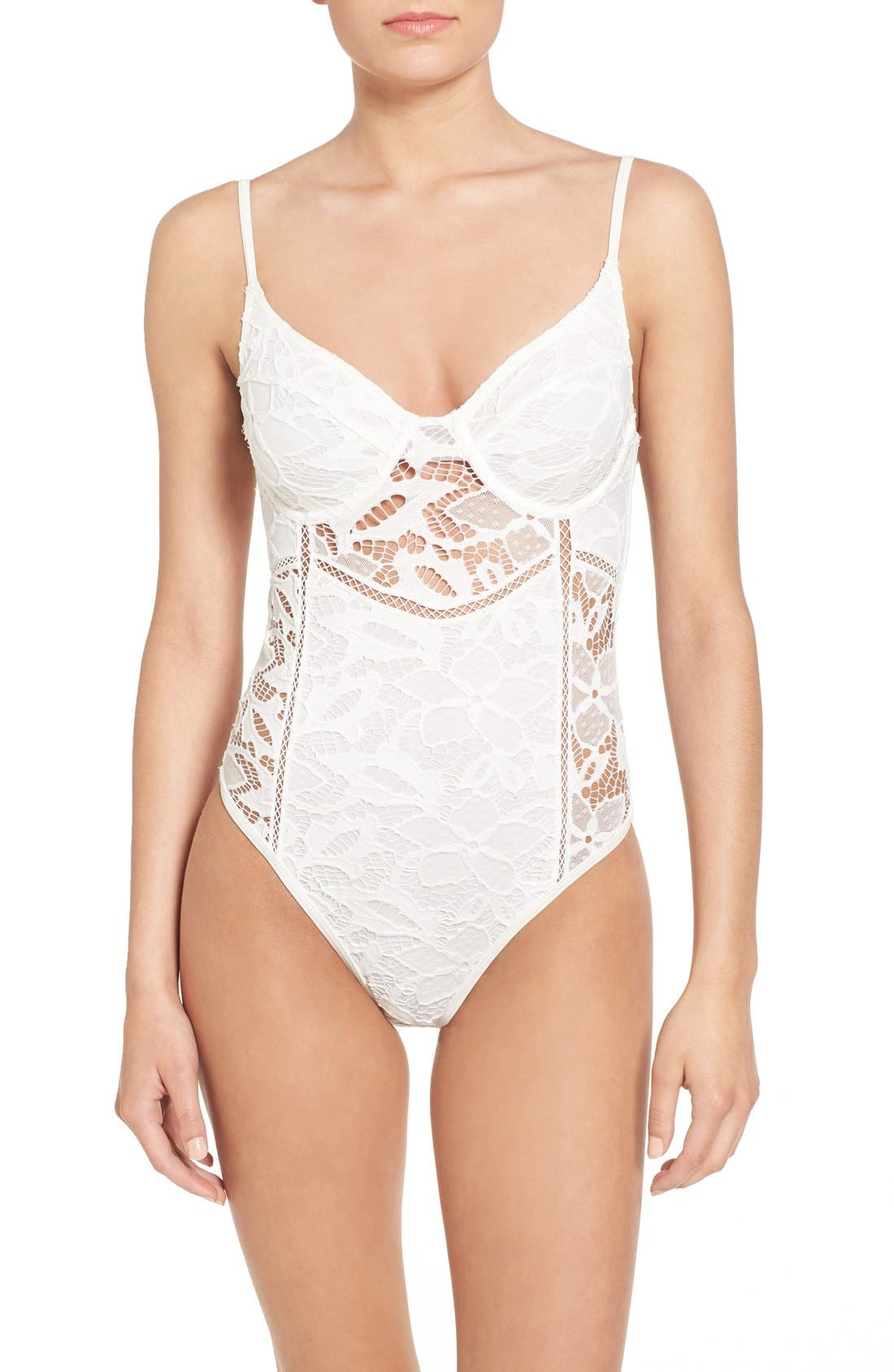 Alternate Image 1 Selected - Somedays Lovin 'Coco' Lace One-Piece Swimsuit