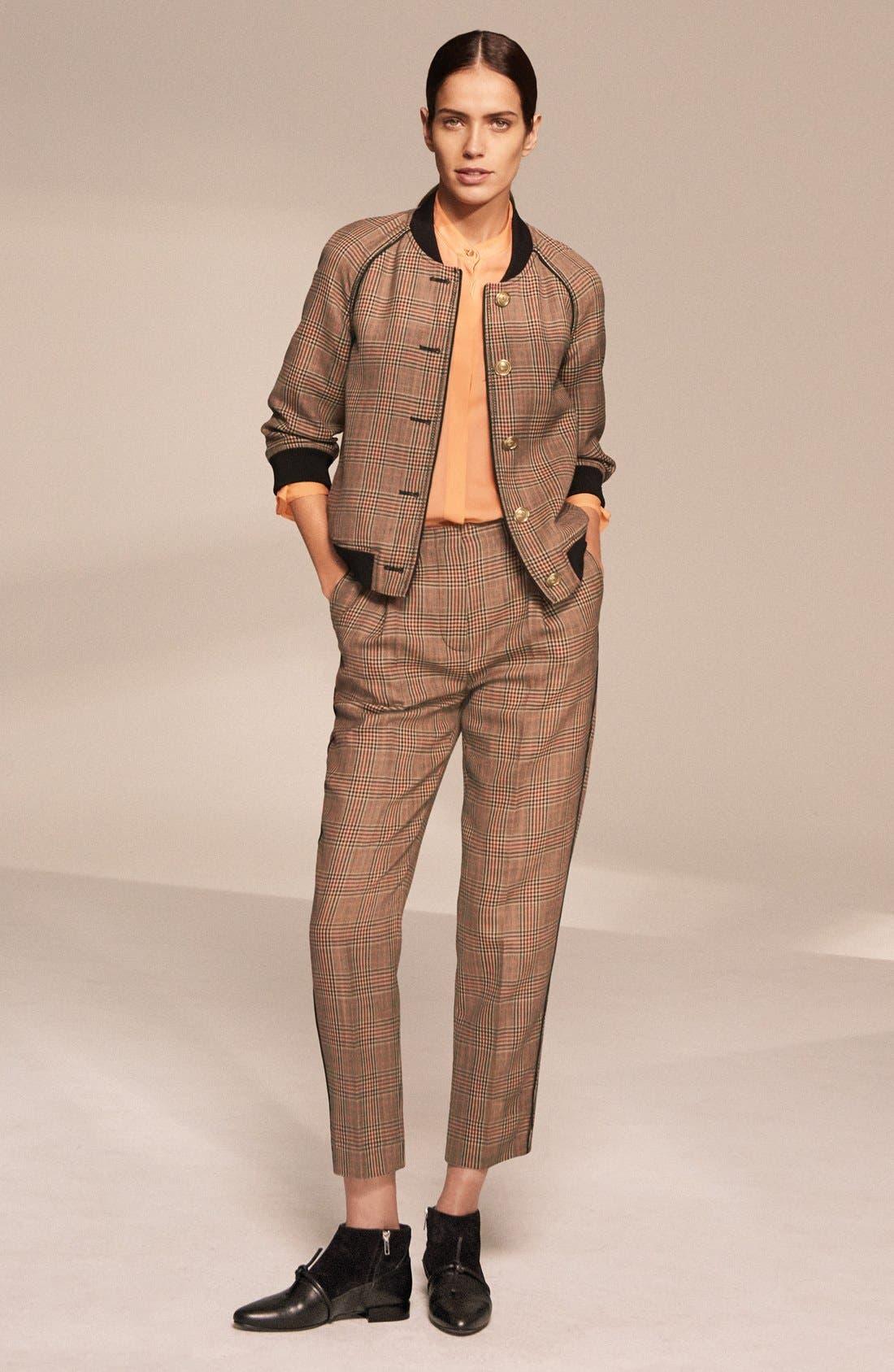 Alternate Image 7  - 3.1 Phillip Lim Pleated Glen Plaid Crop Wool Pants