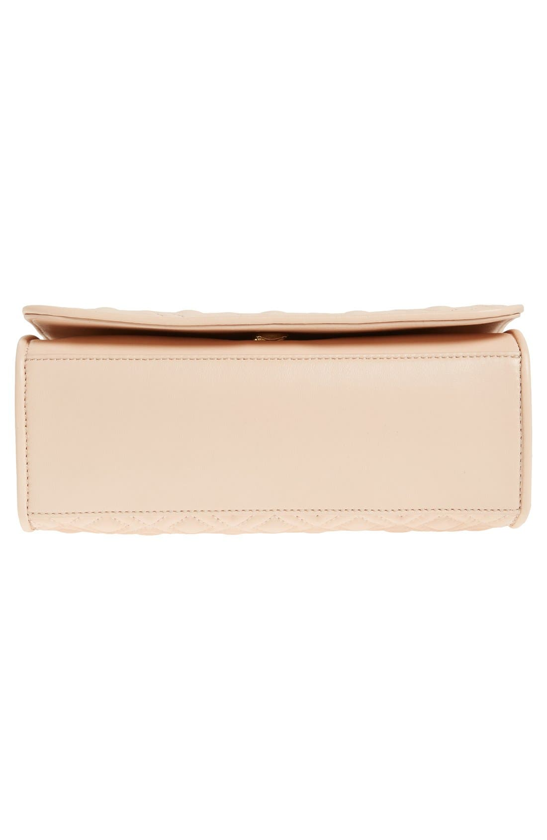 'Medium Fleming' Leather Shoulder Bag,                             Alternate thumbnail 8, color,                             Pale Apricot