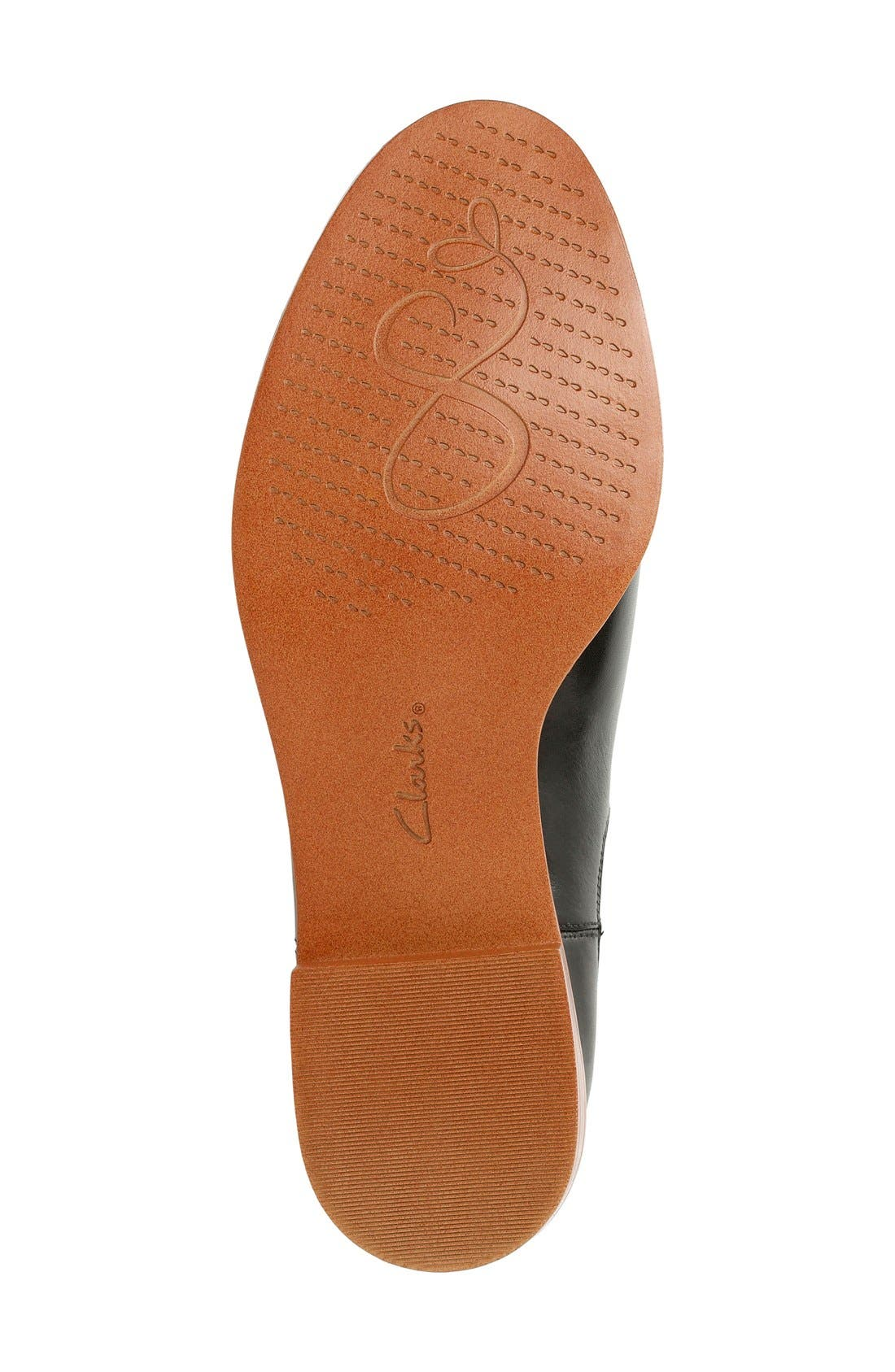 'Taylor Shine' Chelsea Boot,                             Alternate thumbnail 4, color,                             Black Leather