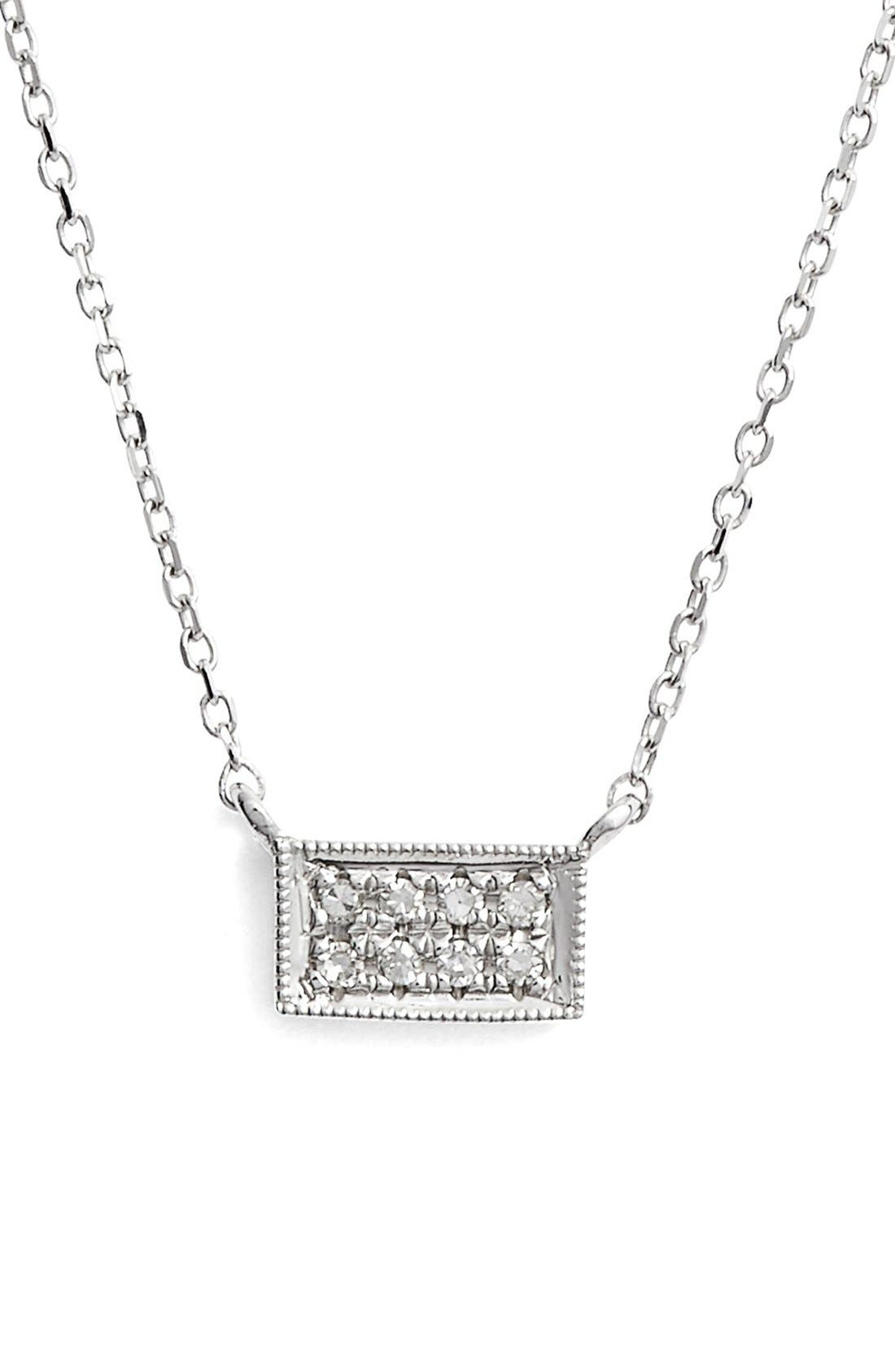 Alternate Image 1 Selected - Dana Rebecca Designs 'Katie' Diamond Bar Pendant Necklace