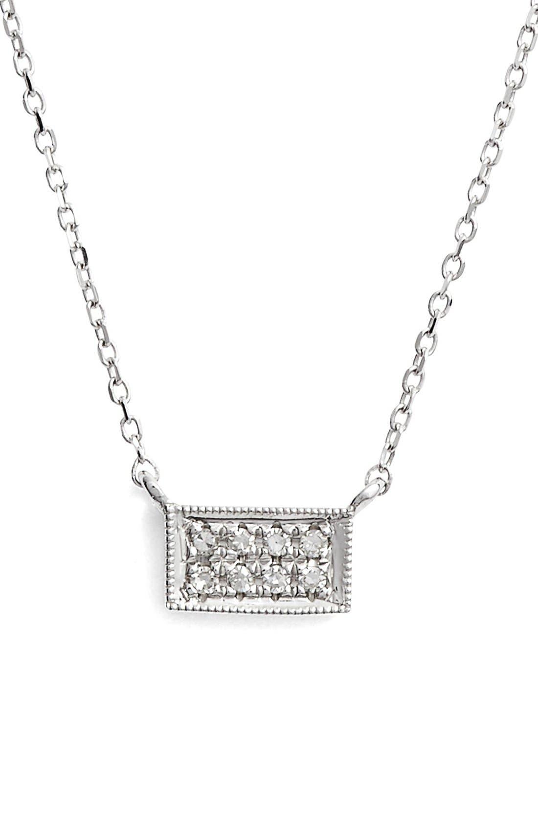 Main Image - Dana Rebecca Designs 'Katie' Diamond Bar Pendant Necklace