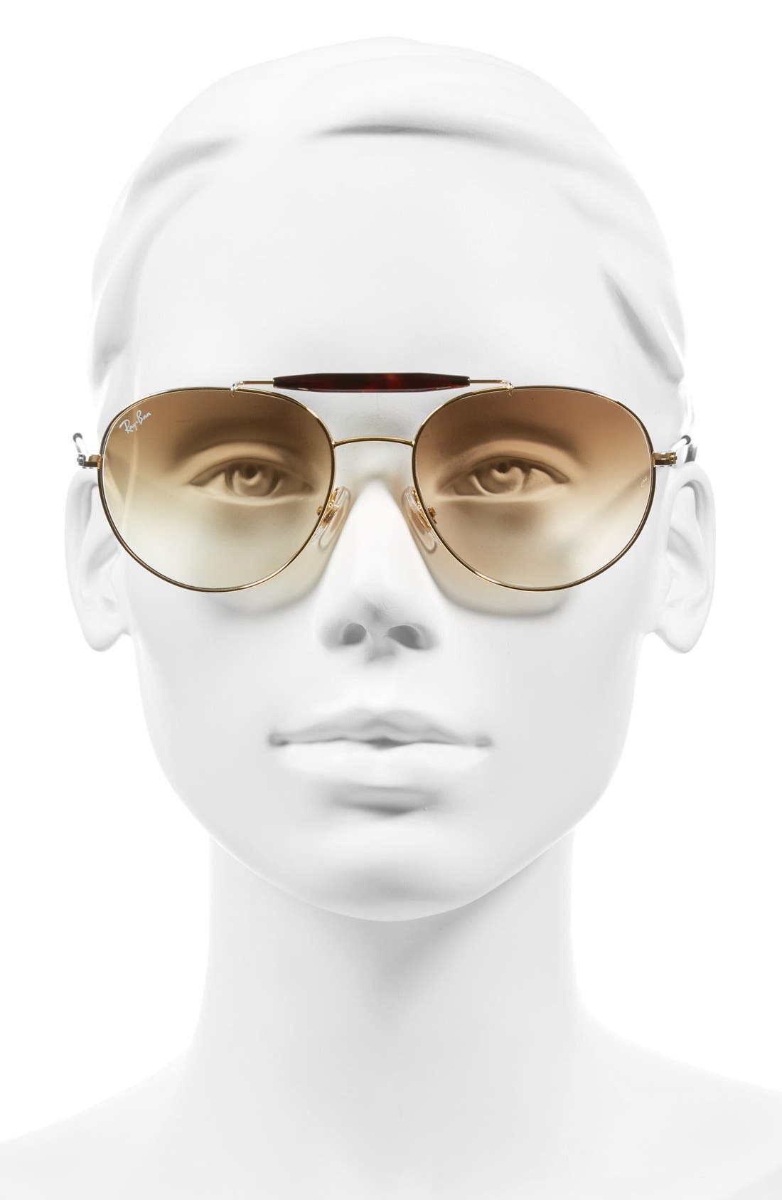 Highstreet 56mm Sunglasses,                             Alternate thumbnail 2, color,                             Brown Gradient