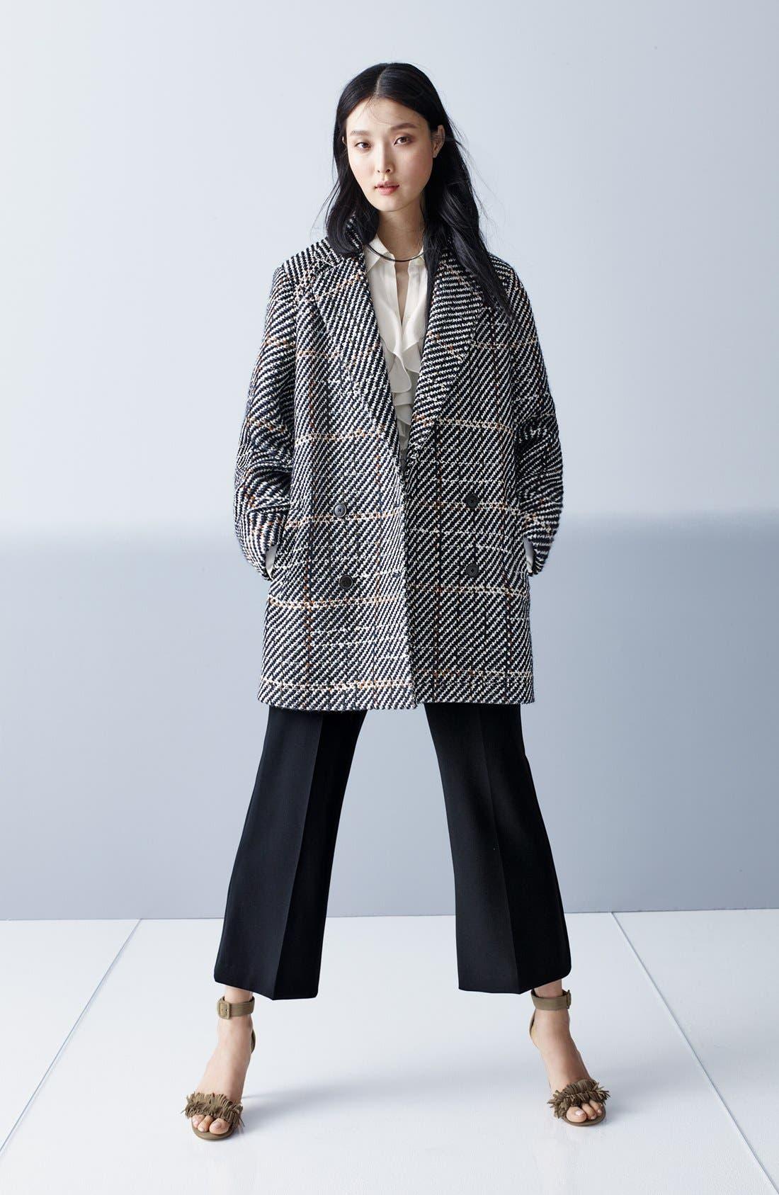 Alternate Image 7  - Theory Graphic Tweed Coat