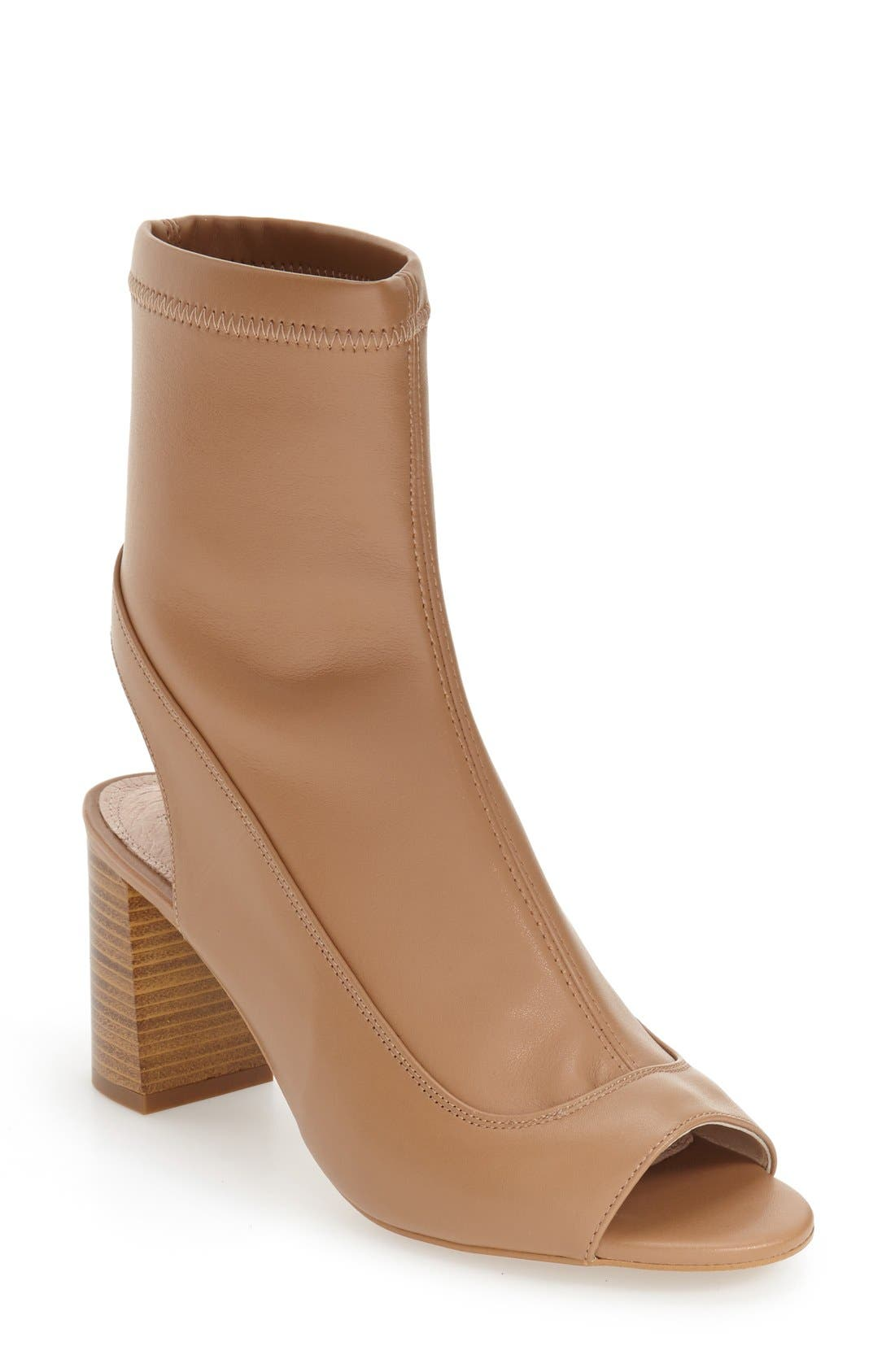 Alternate Image 1 Selected - Topshop 'Melon' Cutout Stretch Bootie (Women)