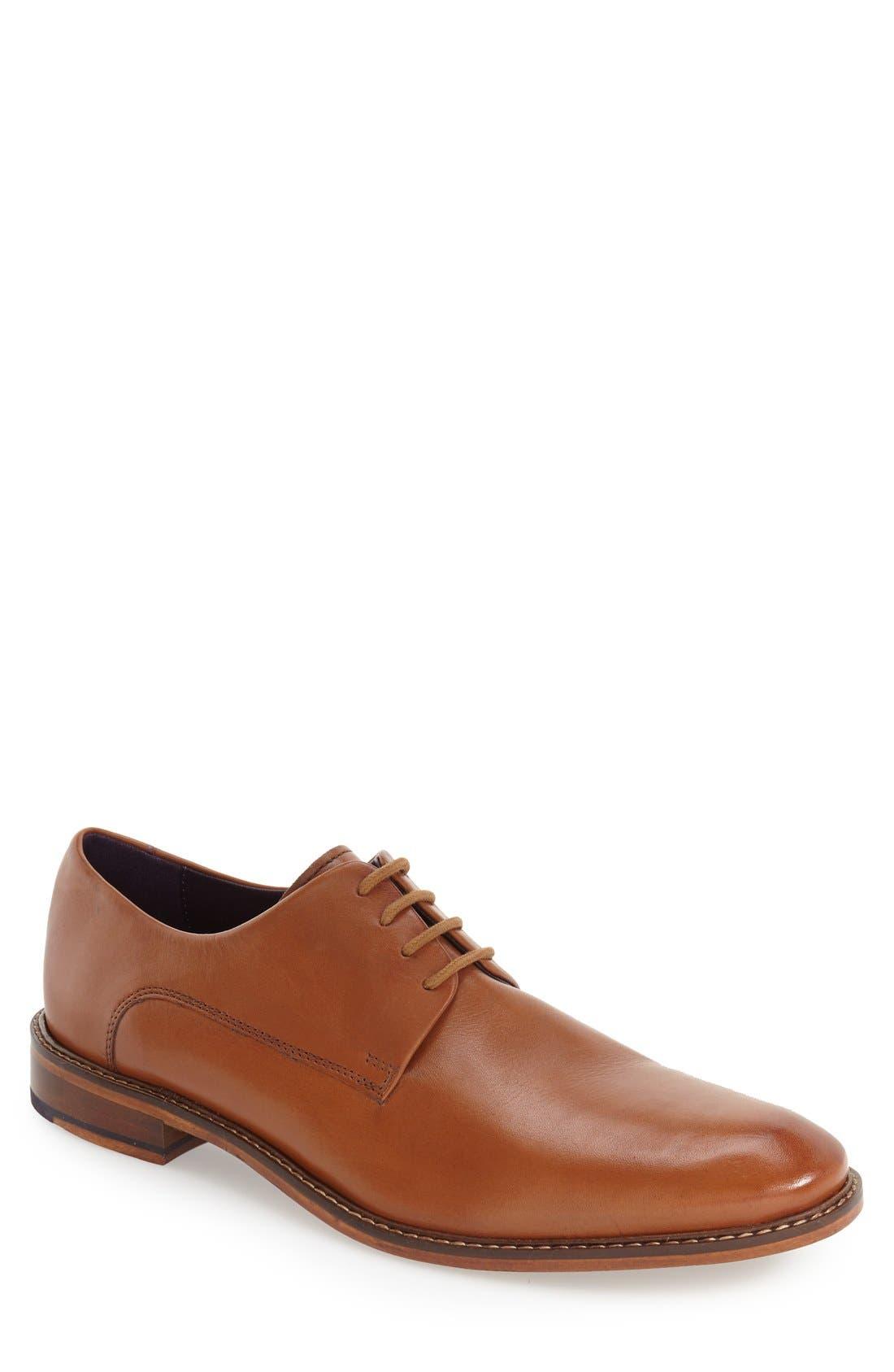 'Irron 3' Plain Toe Derby,                         Main,                         color, Tan