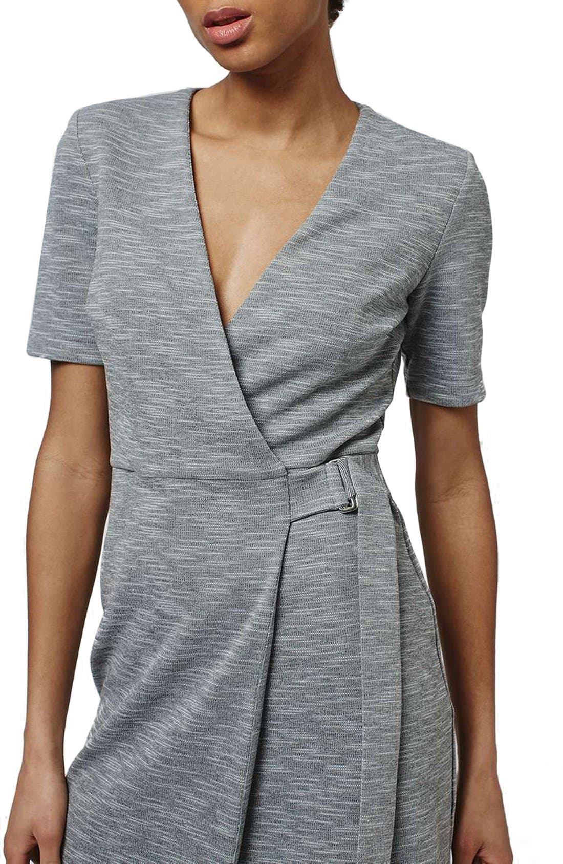Alternate Image 3  - Topshop Belted Wrap Minidress