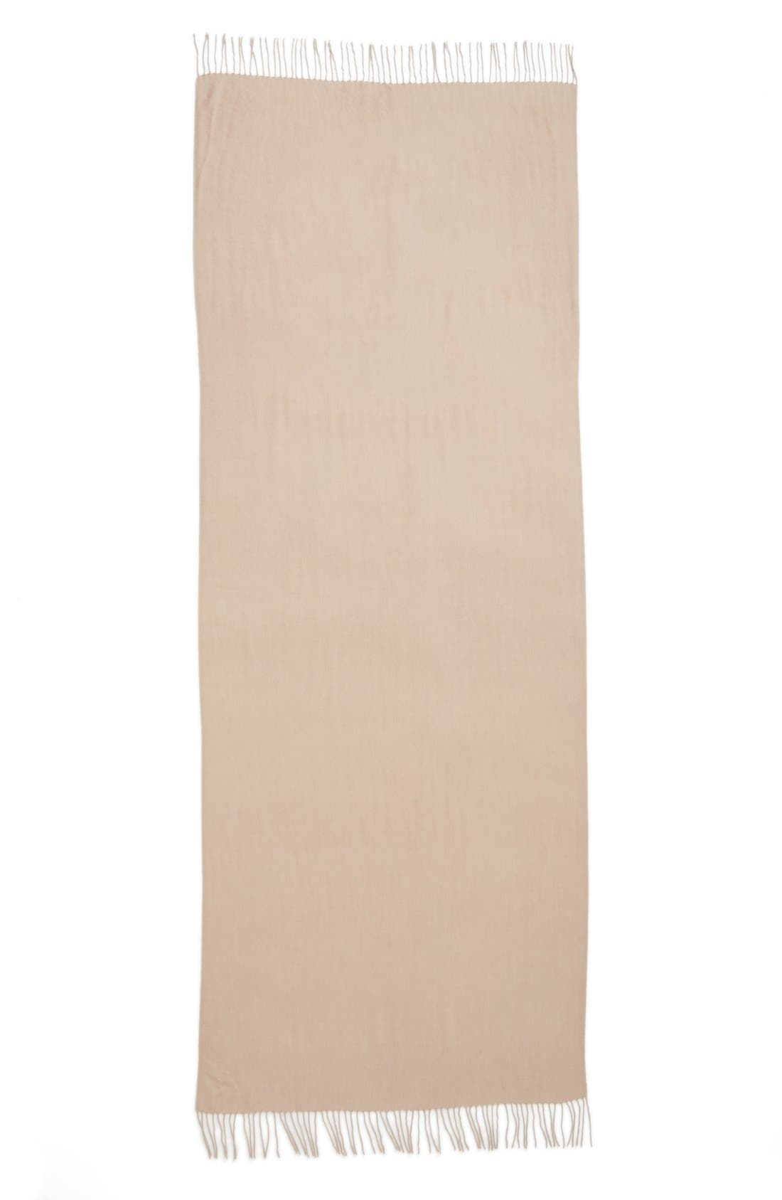 Tissue Weight Wool &Cashmere Scarf,                             Alternate thumbnail 3, color,                             Tan Memoir
