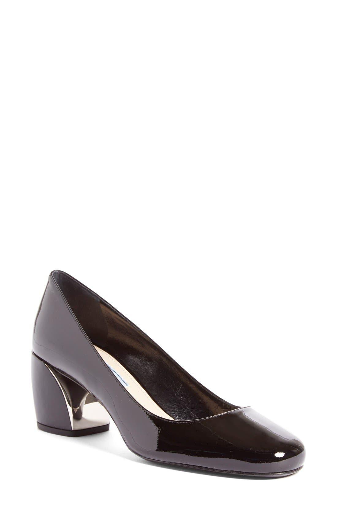 Alternate Image 1 Selected - Prada Block Heel Pump (Women)