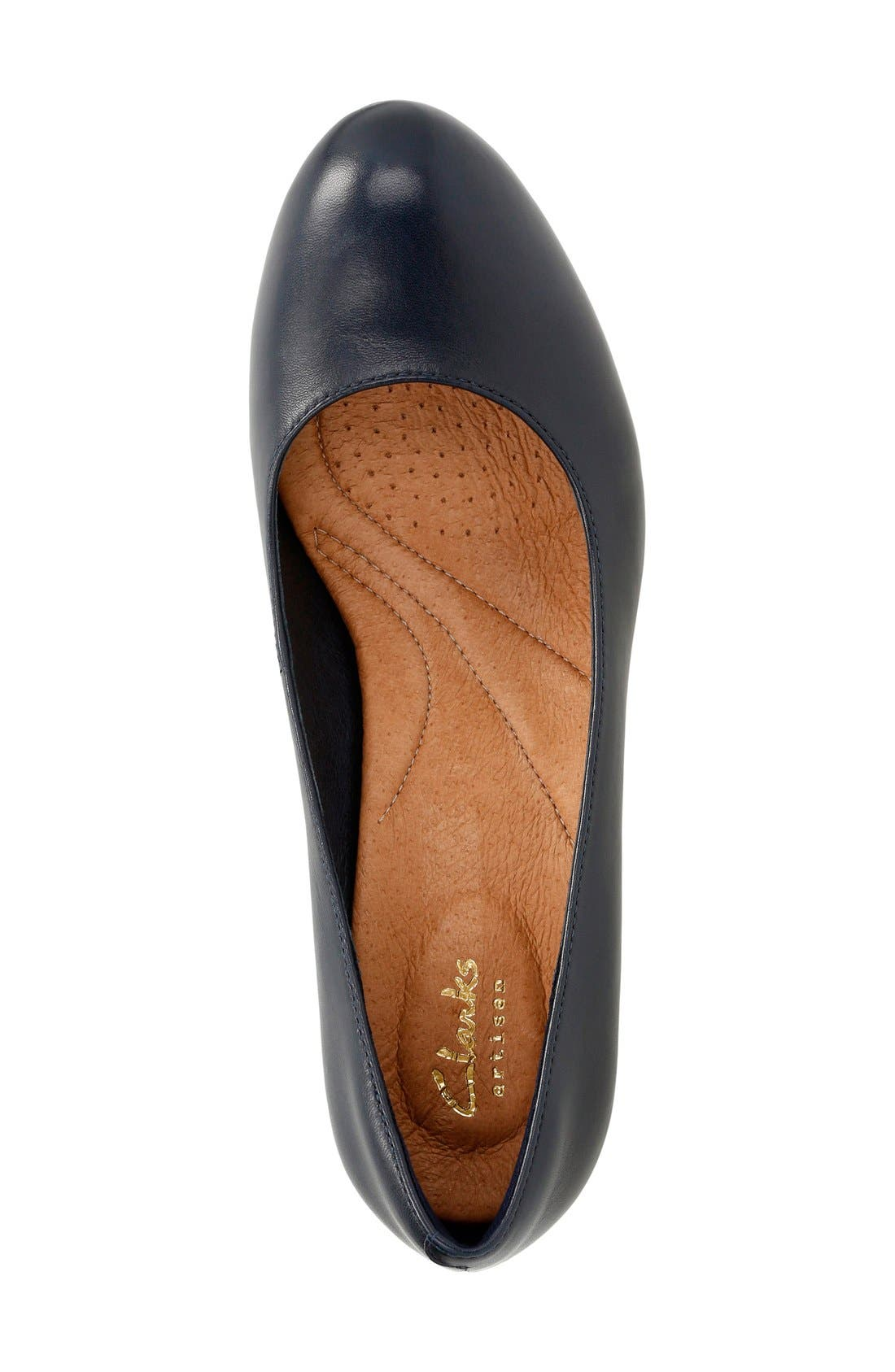 'Heavenly Heart' Pump,                             Alternate thumbnail 3, color,                             Navy Leather