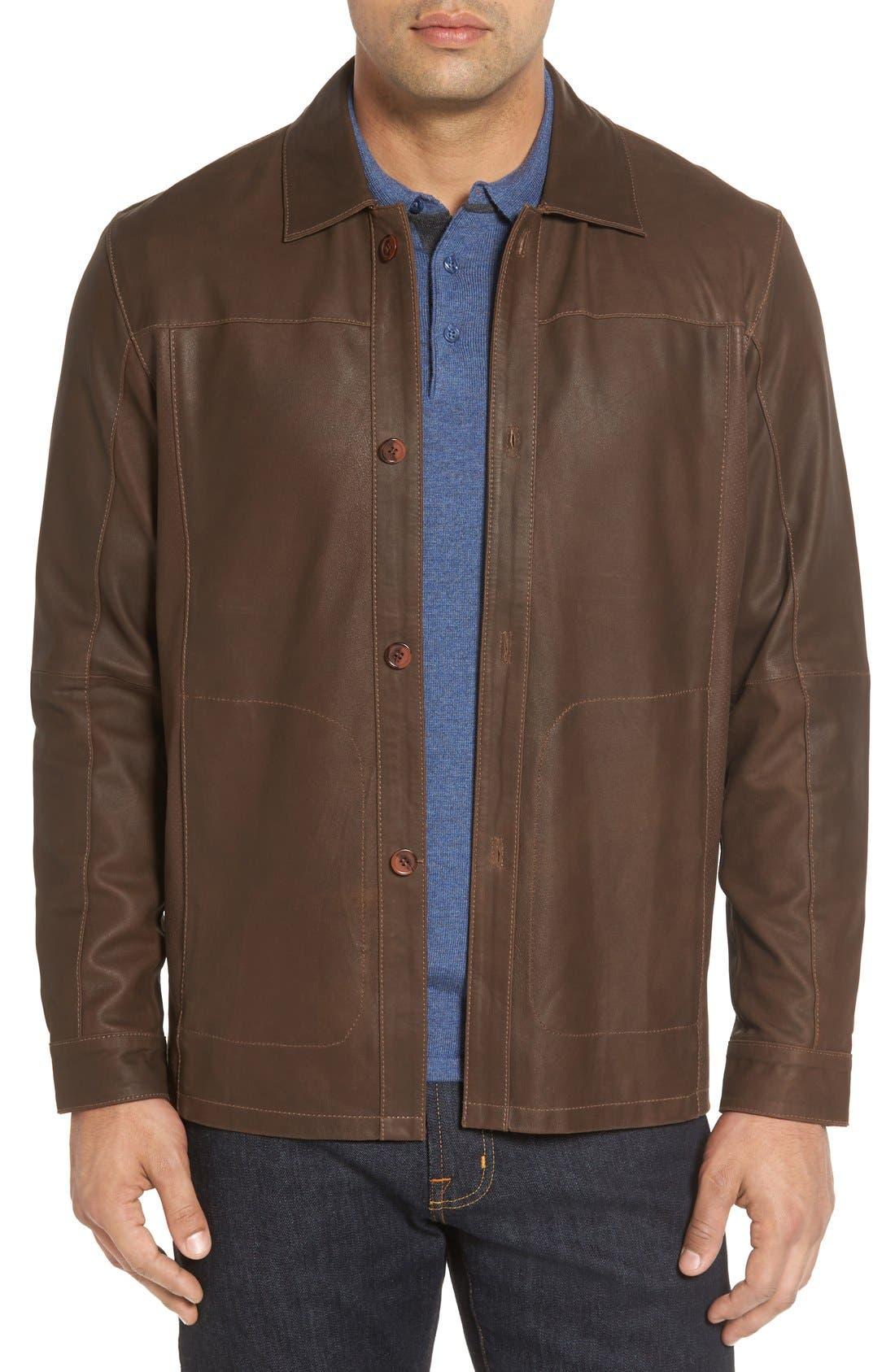 Main Image - Missani Le Collezioni Unlined Leather Jacket