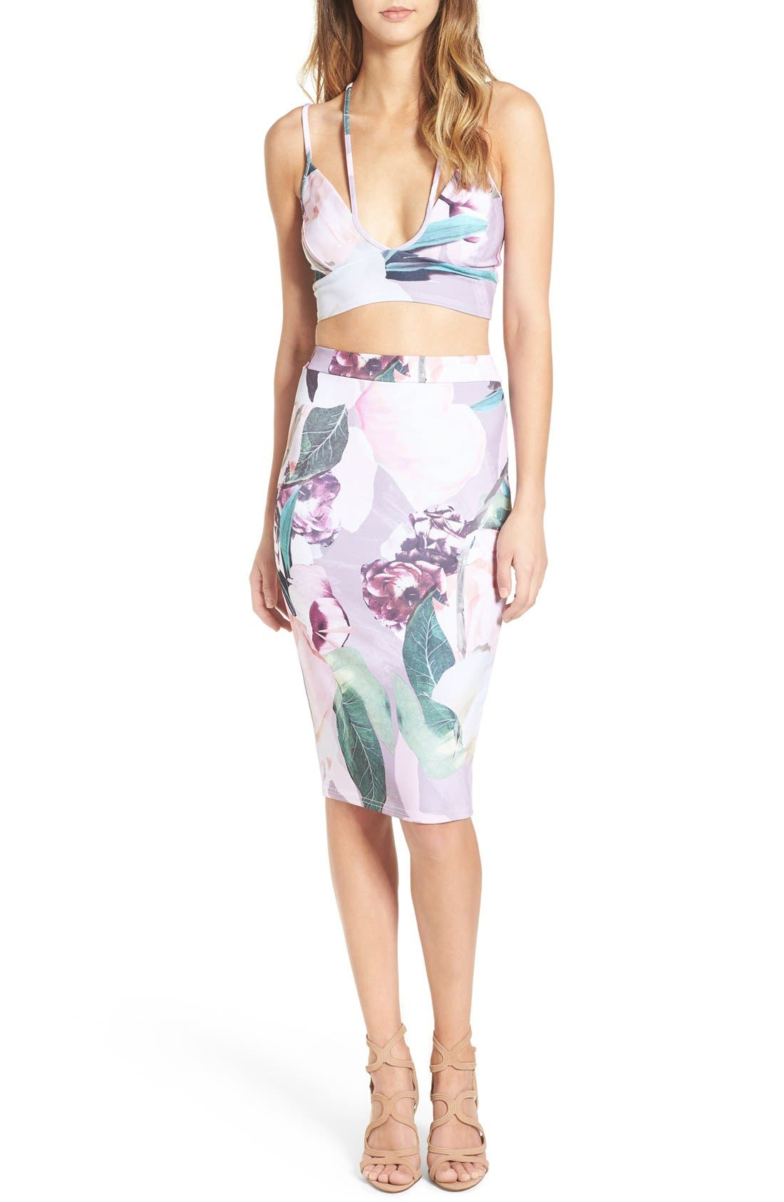 Alternate Image 4  - Missguided Floral Print Crop Top