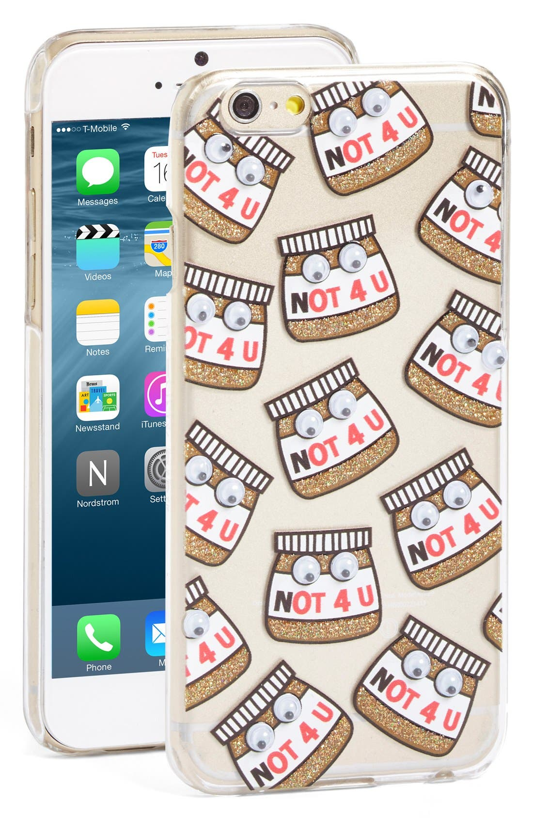 Main Image - Skinnydip Not 4 U iPhone 6/6s Case
