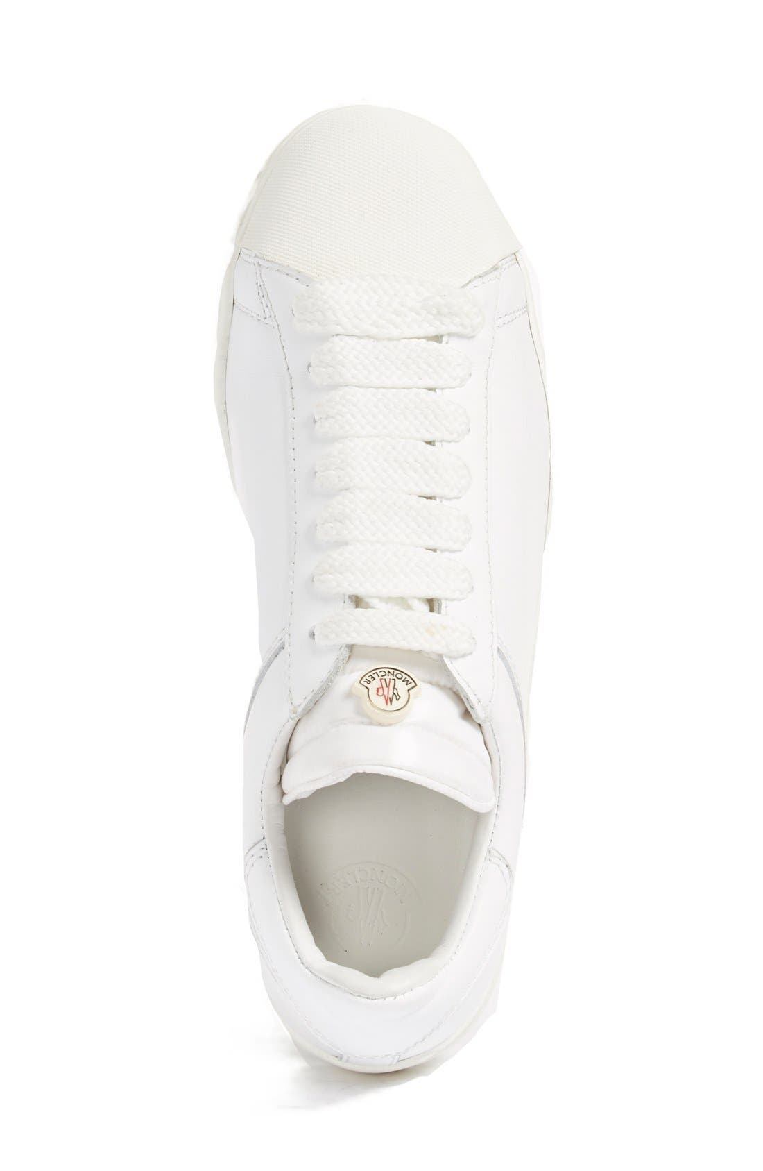 'Angeline Scarpa' Sneaker,                             Alternate thumbnail 4, color,                             White Leather