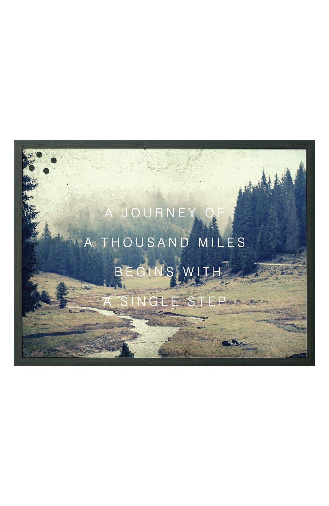 Petal Lane 'Journey Of 1,000 Miles' Magnet Board