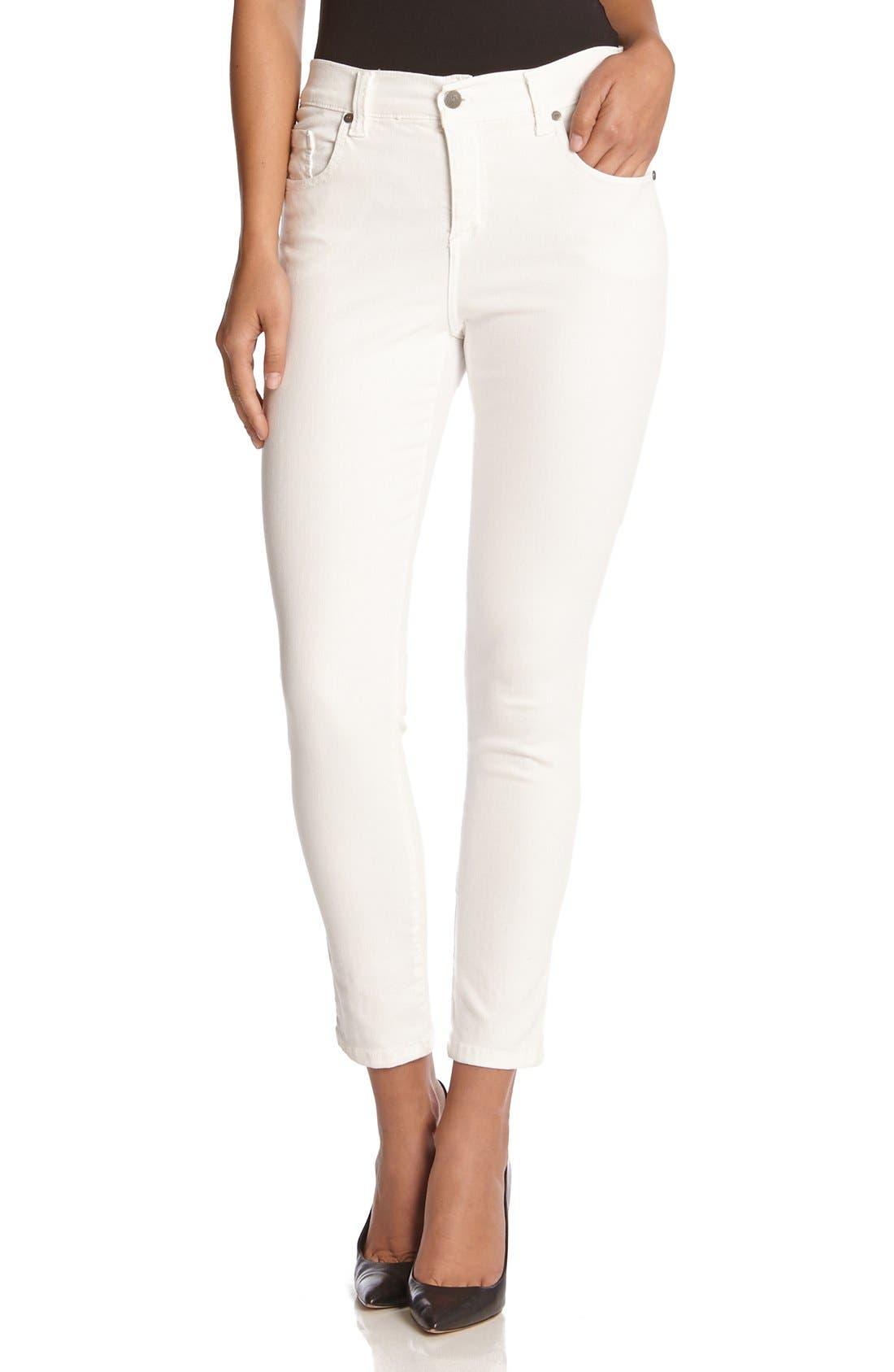 'Zuma' Stretch Crop Skinny Jeans,                         Main,                         color, Cream