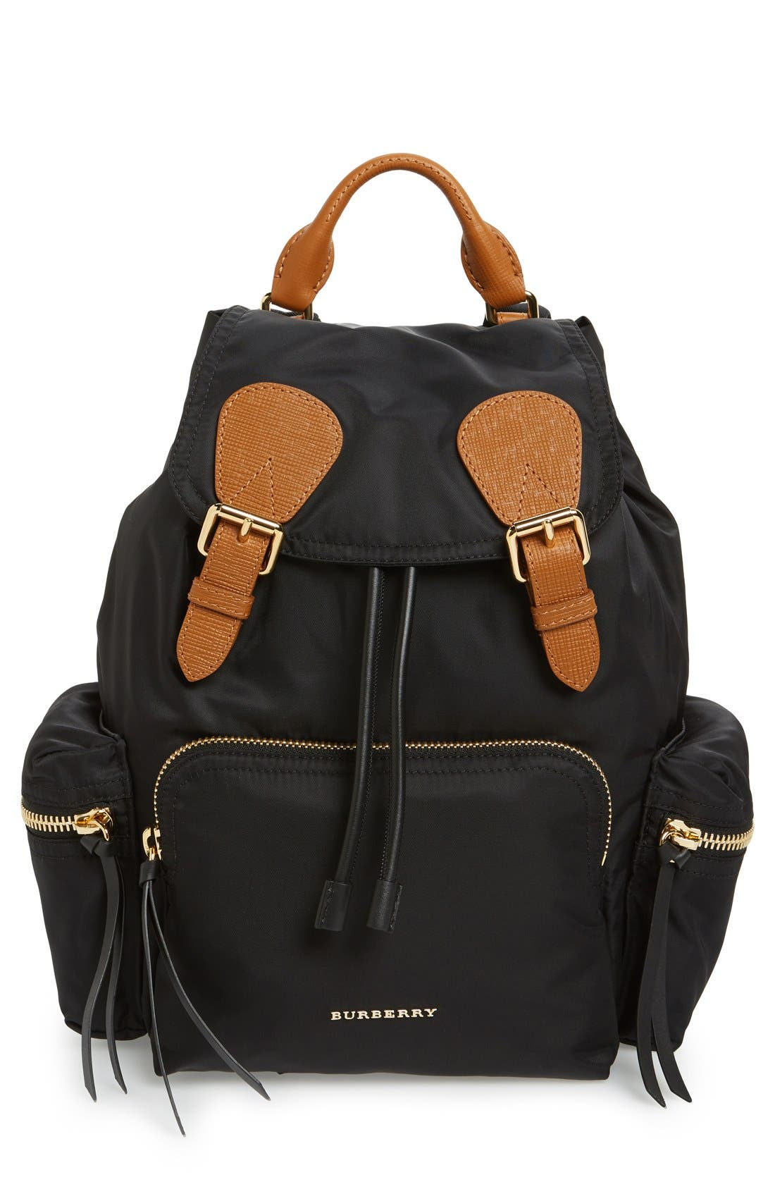 'Medium Runway Rucksack' Nylon Backpack,                             Main thumbnail 1, color,                             Black