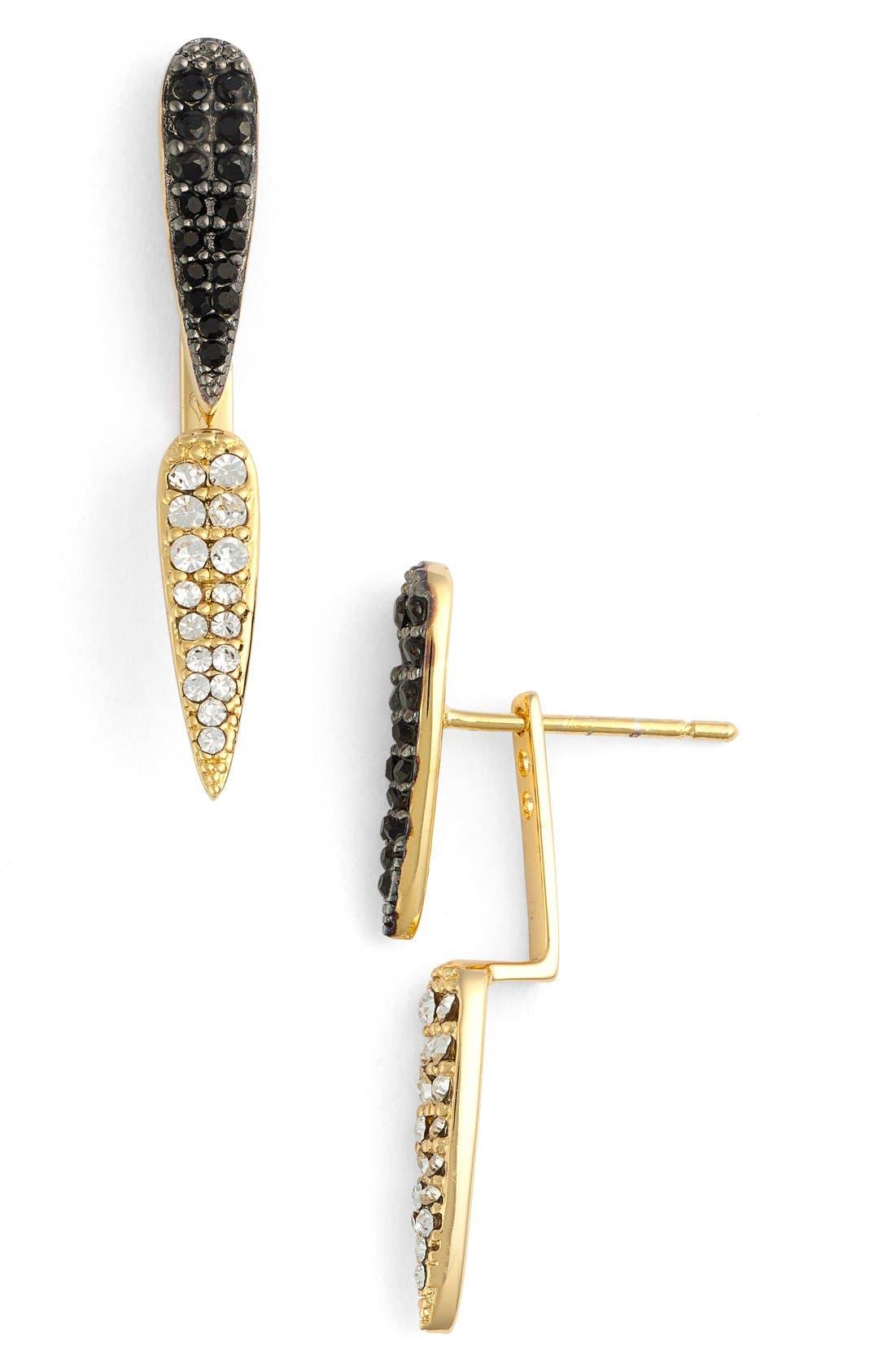 'Penelope' Ear Jackets,                         Main,                         color, Gold/ Gunmetal
