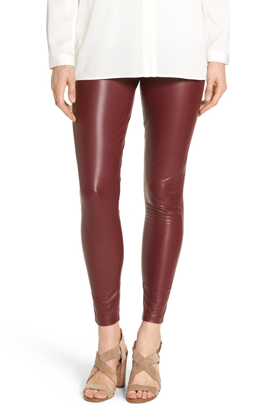 Alternate Image 1 Selected - Hue 'Leatherette' Faux Leather Leggings