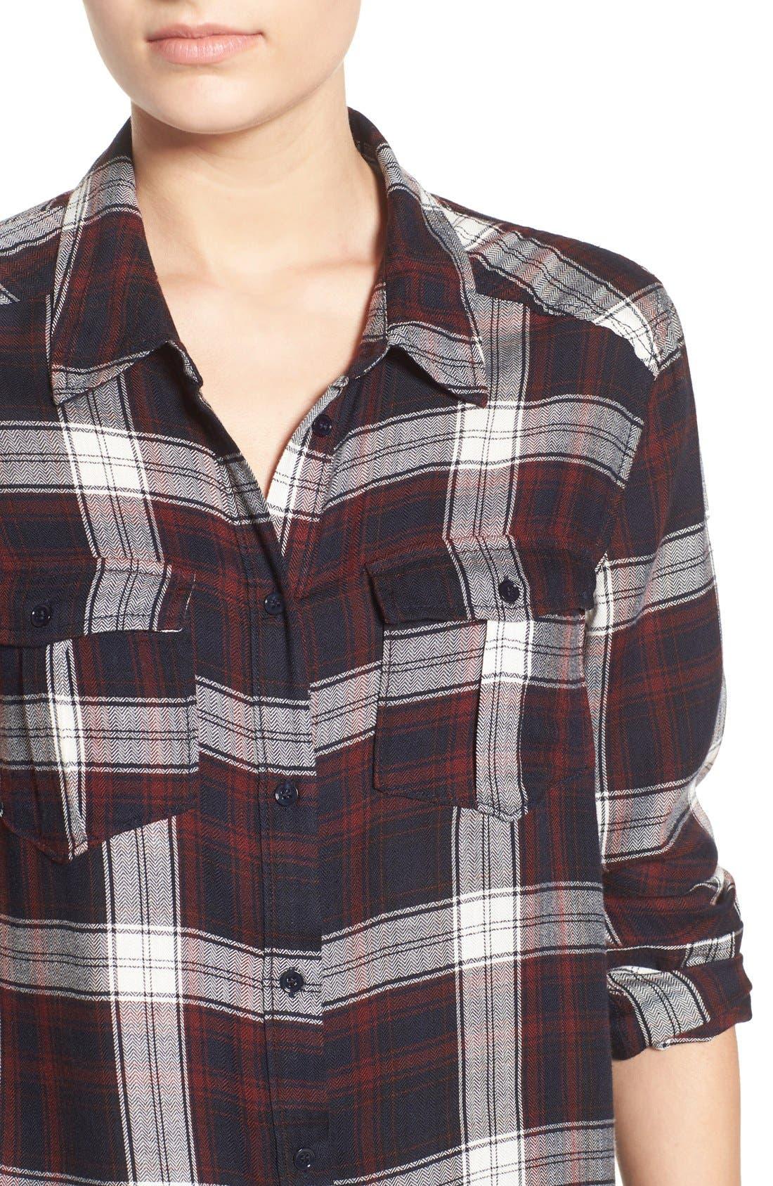 Alternate Image 4  - PAIGE 'Mya' Plaid Shirt