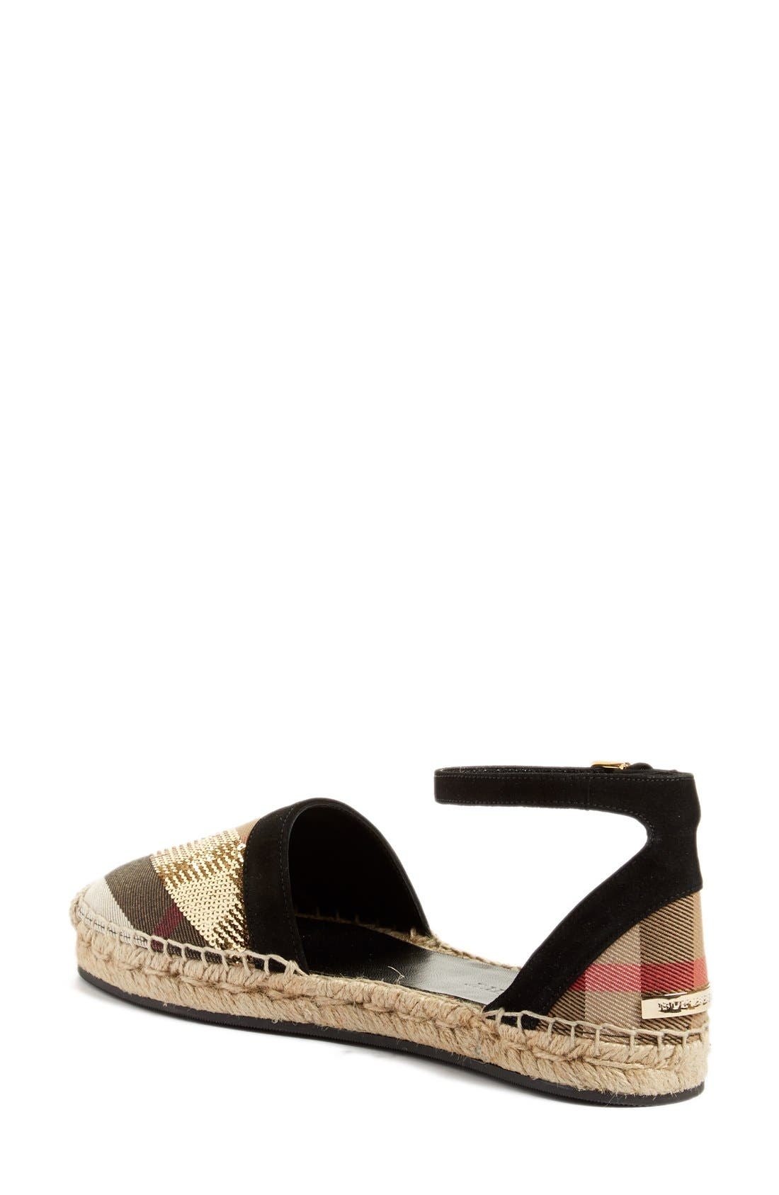Alternate Image 2  - Burberry 'Abbingdon' Ankle Strap Espadrille Sandal (Women)
