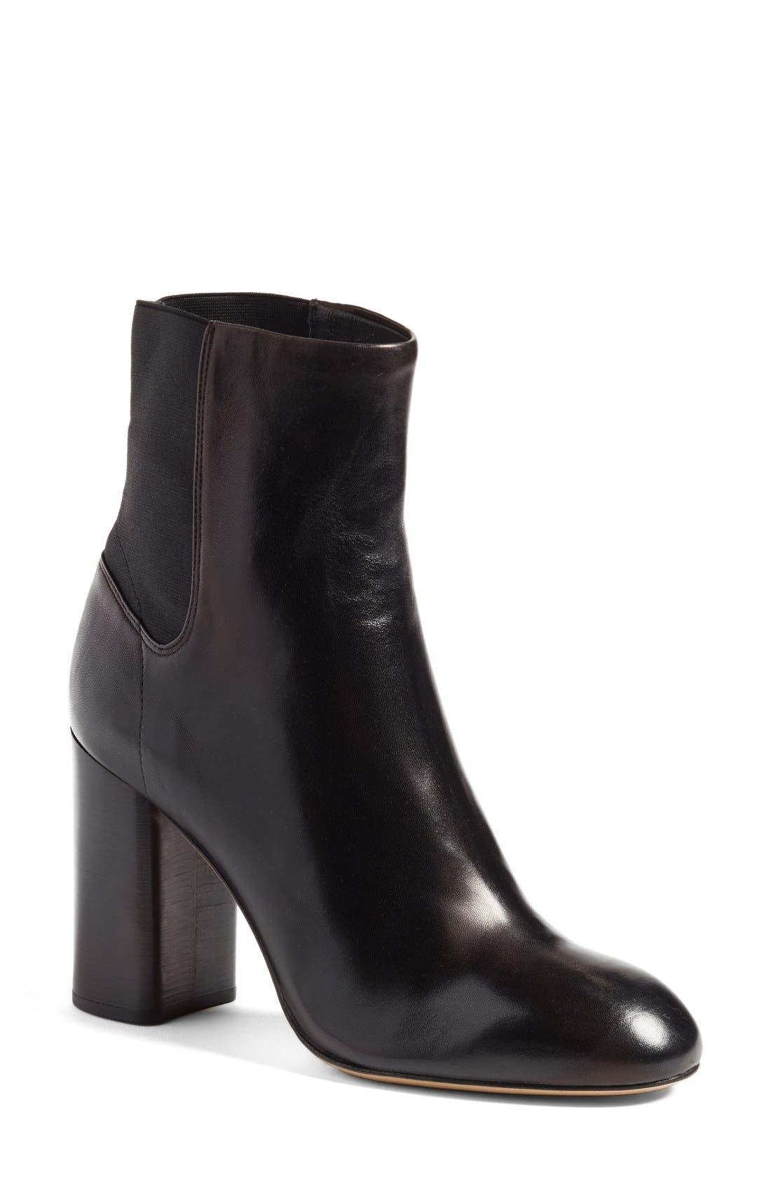 Agnes Bootie,                         Main,                         color, Black Leather