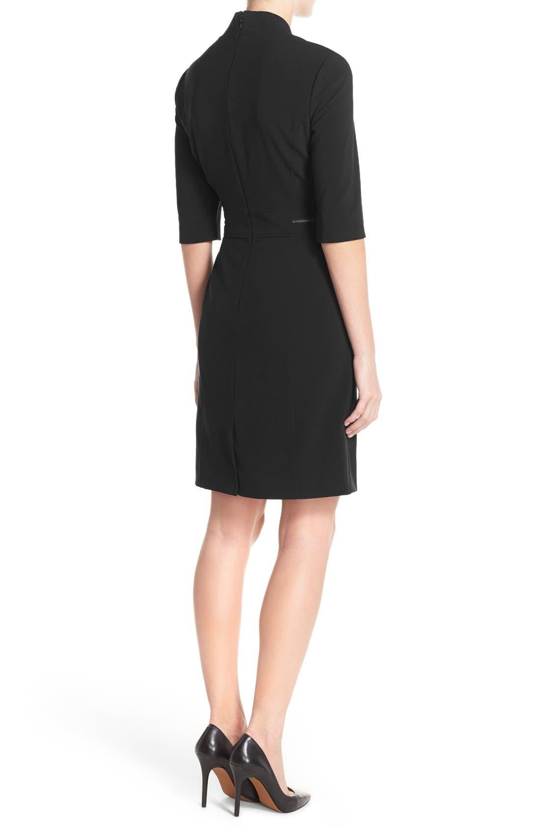 Alternate Image 2  - TahariBi-Stretch Sheath Dress (Regular & Petite)