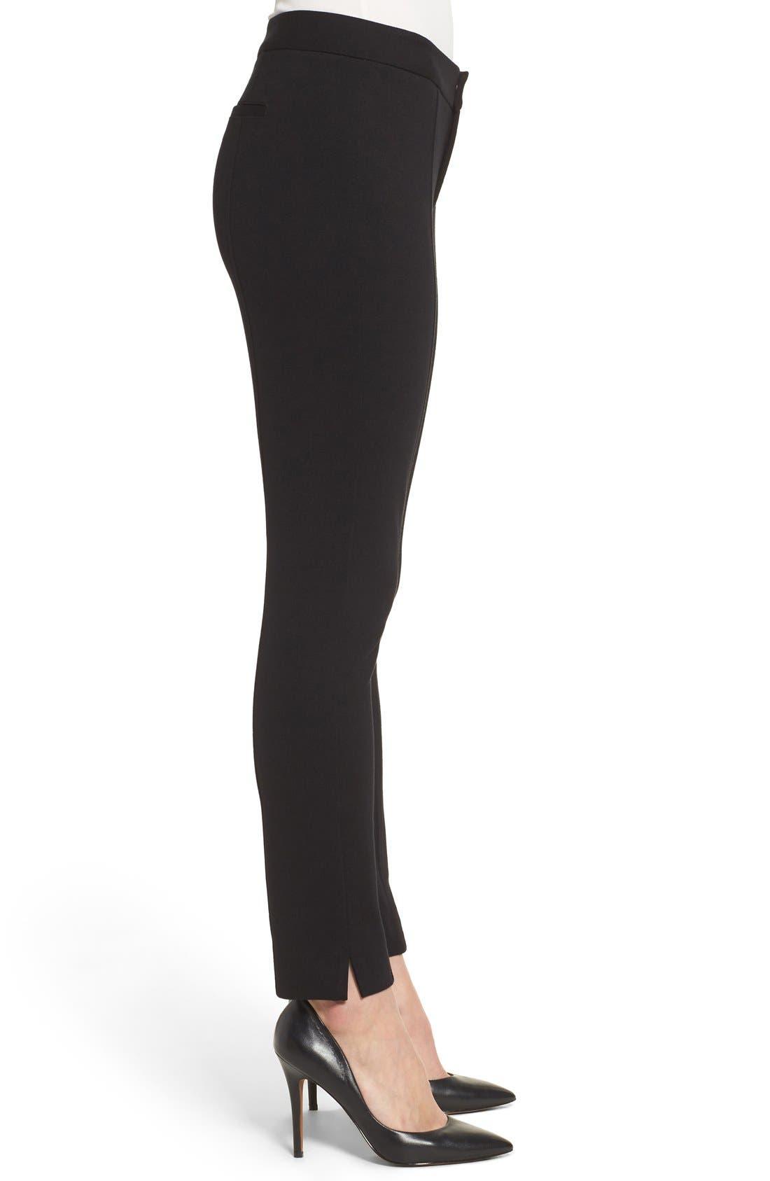 Betty Stretch Ankle Pants,                             Alternate thumbnail 3, color,                             Black