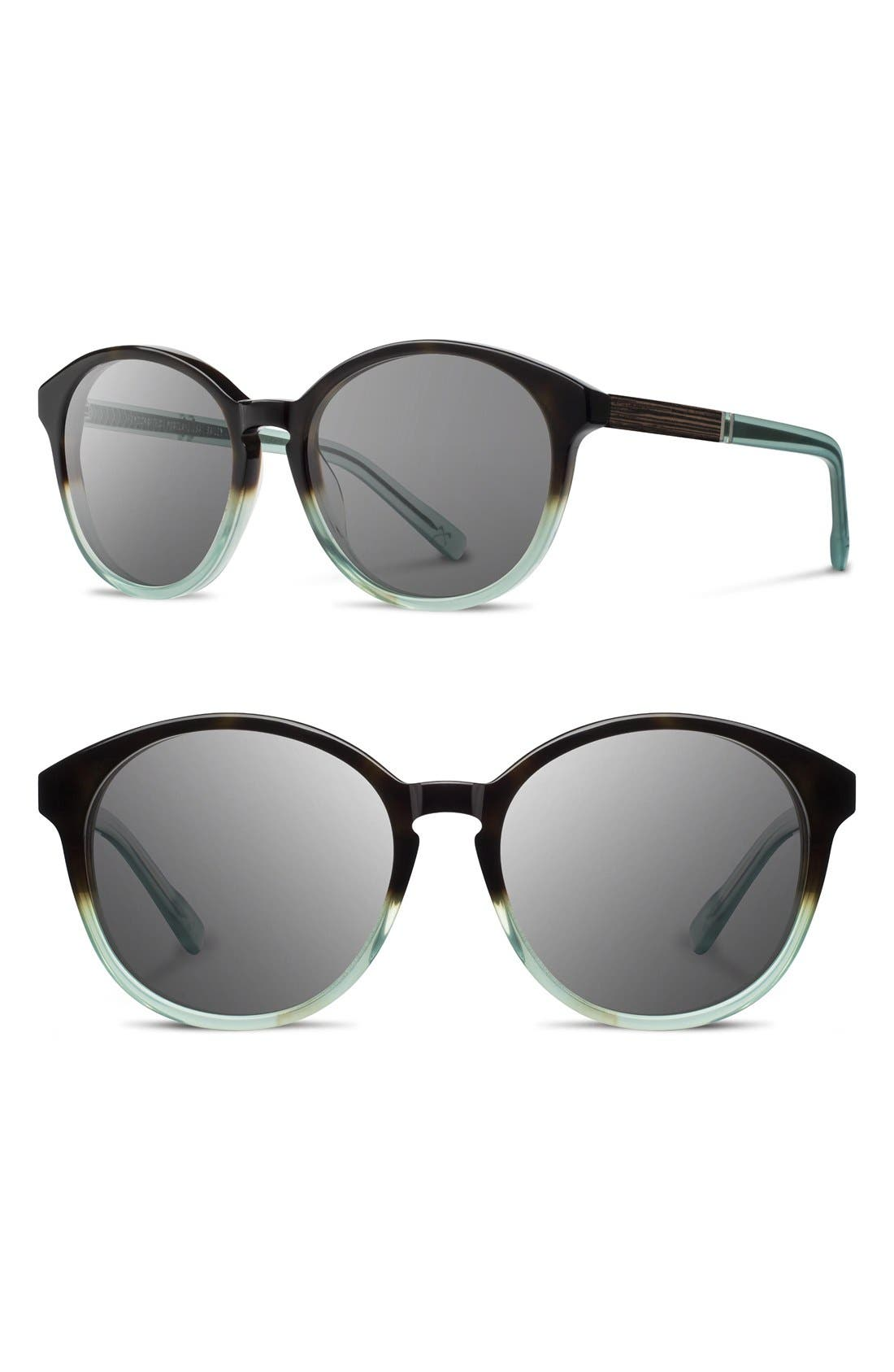 Alternate Image 1 Selected - Shwood 'Bailey' 53mm Round Sunglasses