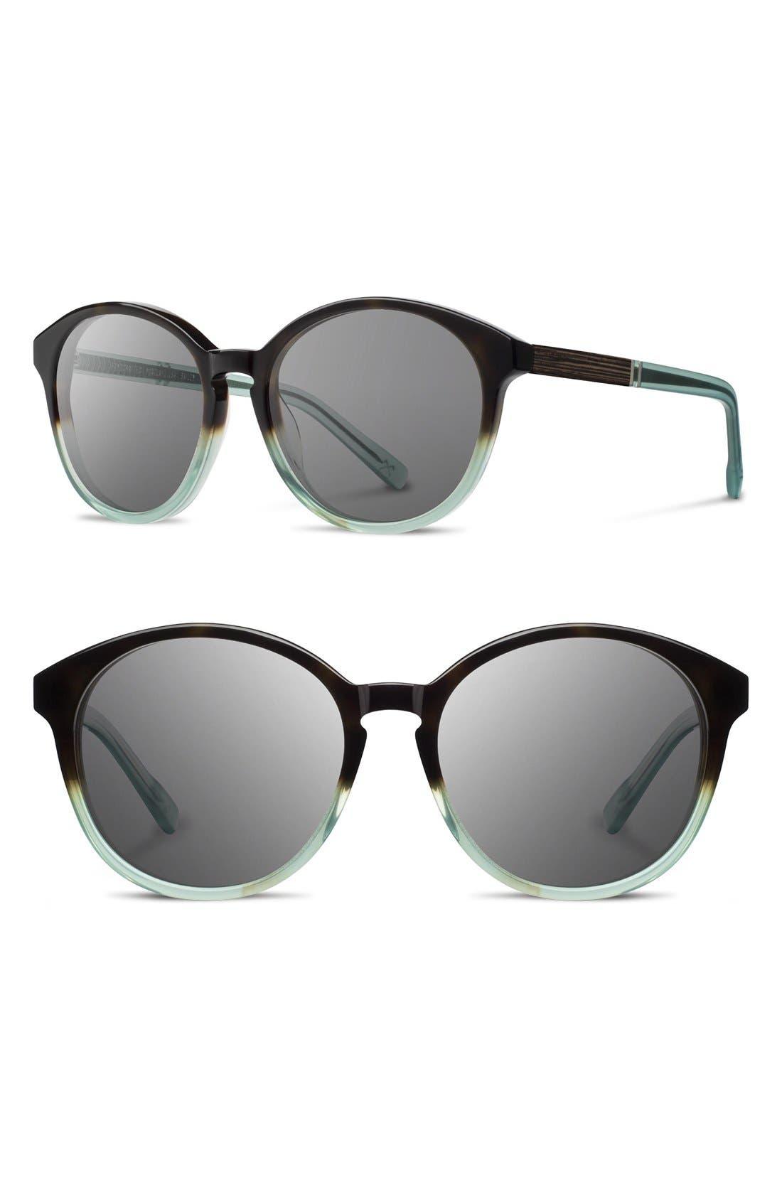 'Bailey' 53mm Round Sunglasses,                         Main,                         color, Seamoss/ Grey